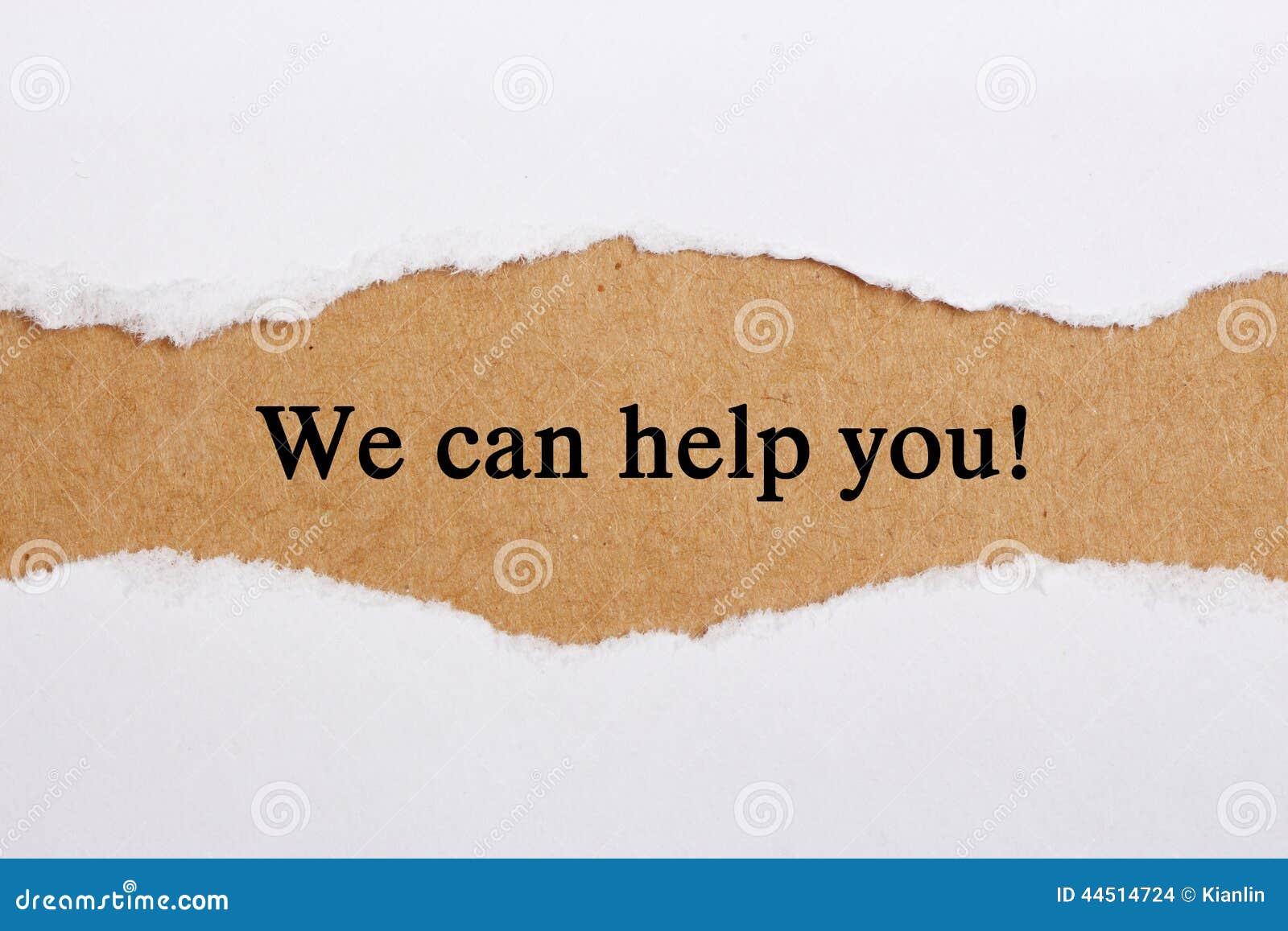 Vi kan hjälpa dig