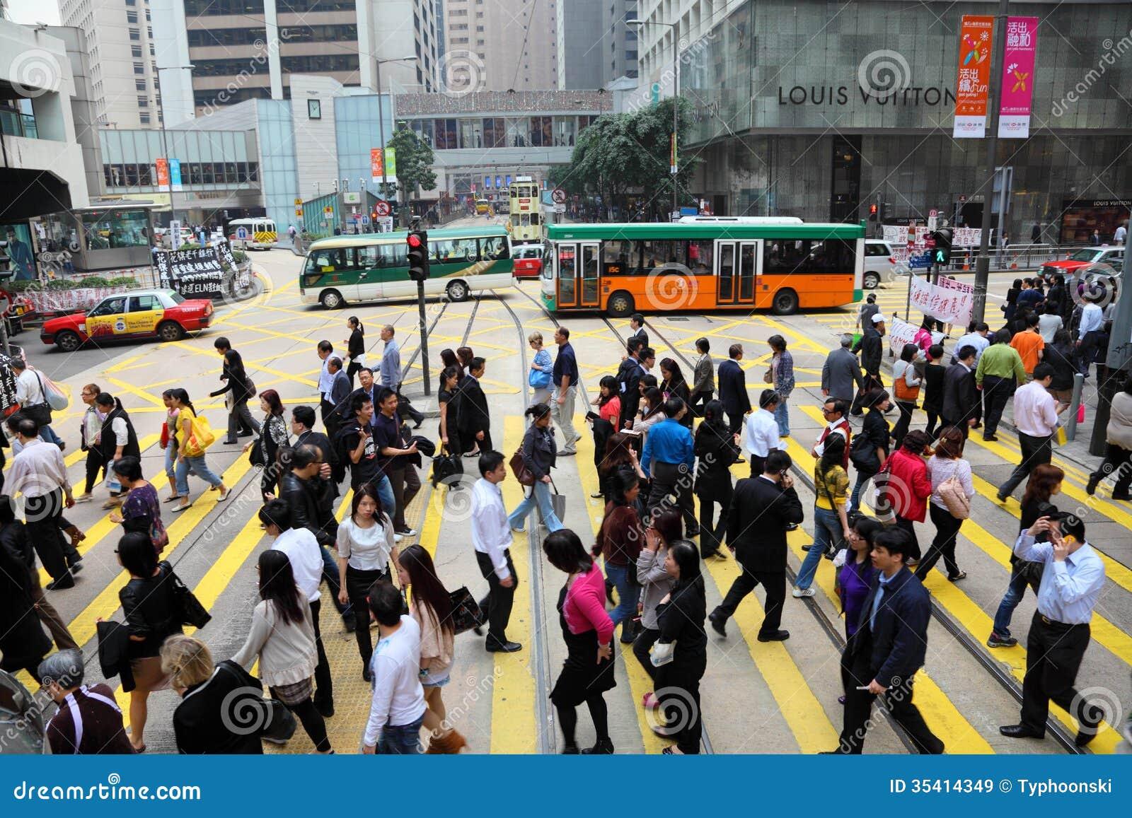 Via ammucchiata in Hong Kong