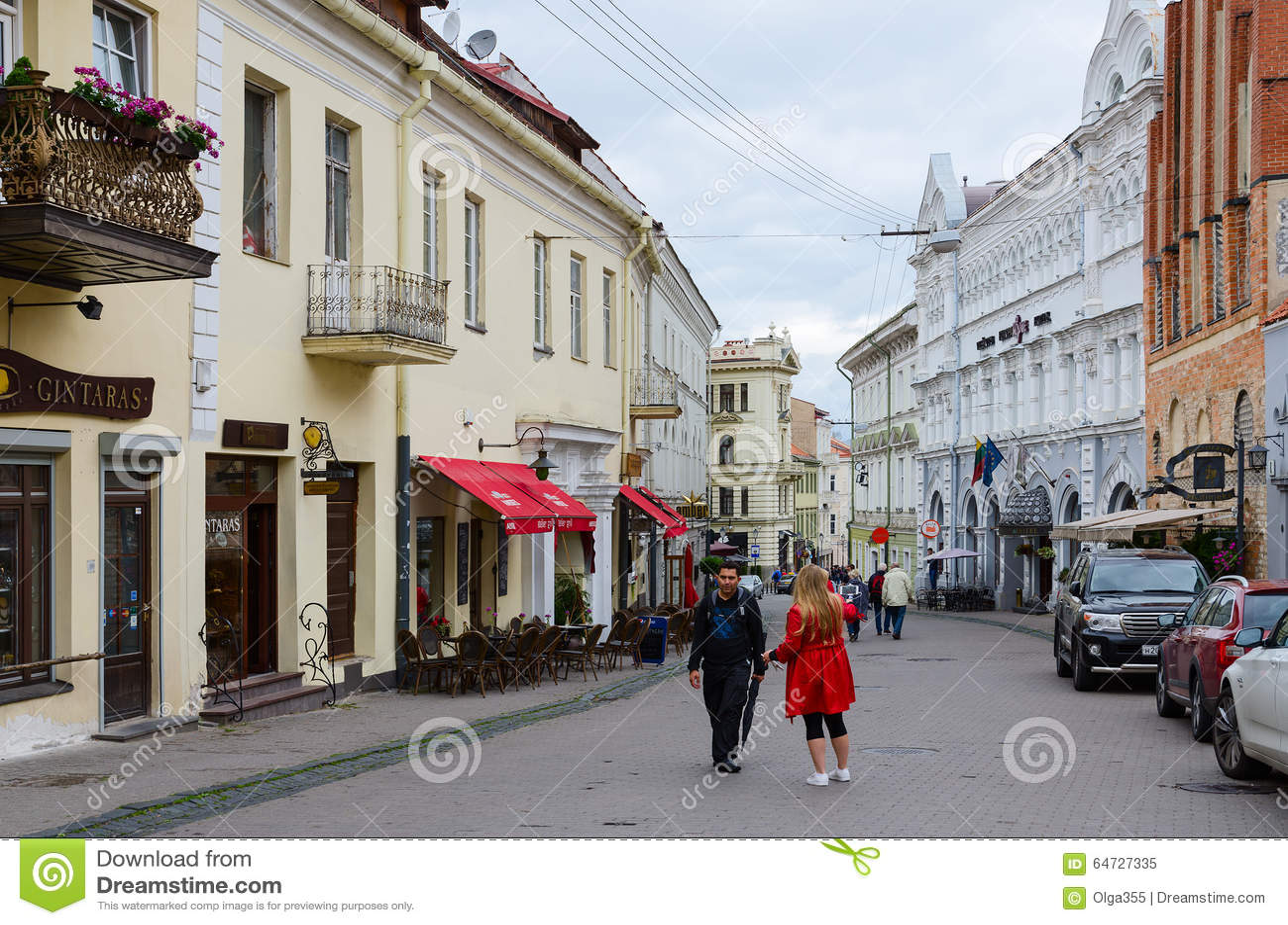Via Ausros Vartai in Città Vecchia, Vilnius, Lituania