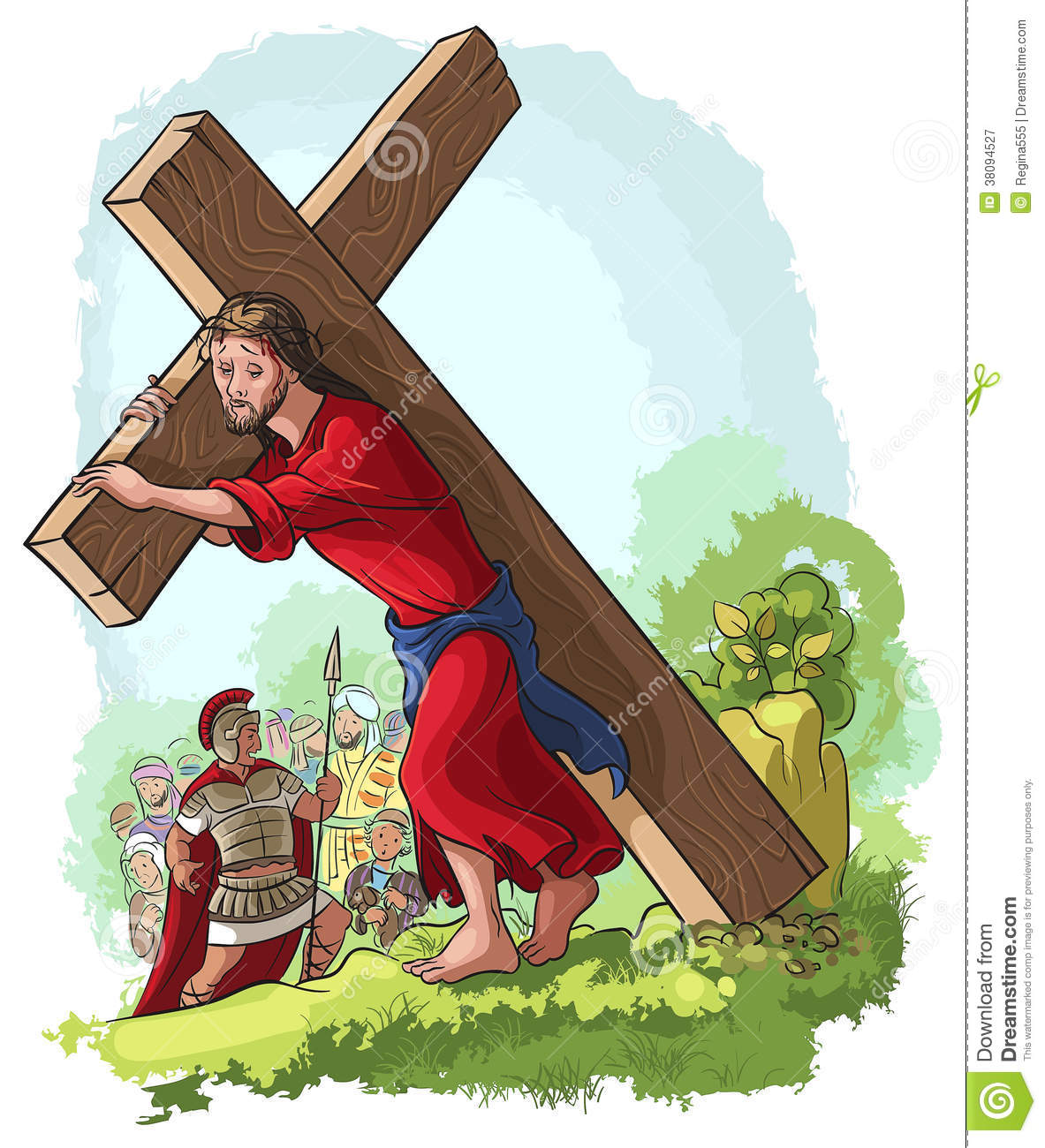 free clip art jesus carrying cross - photo #24