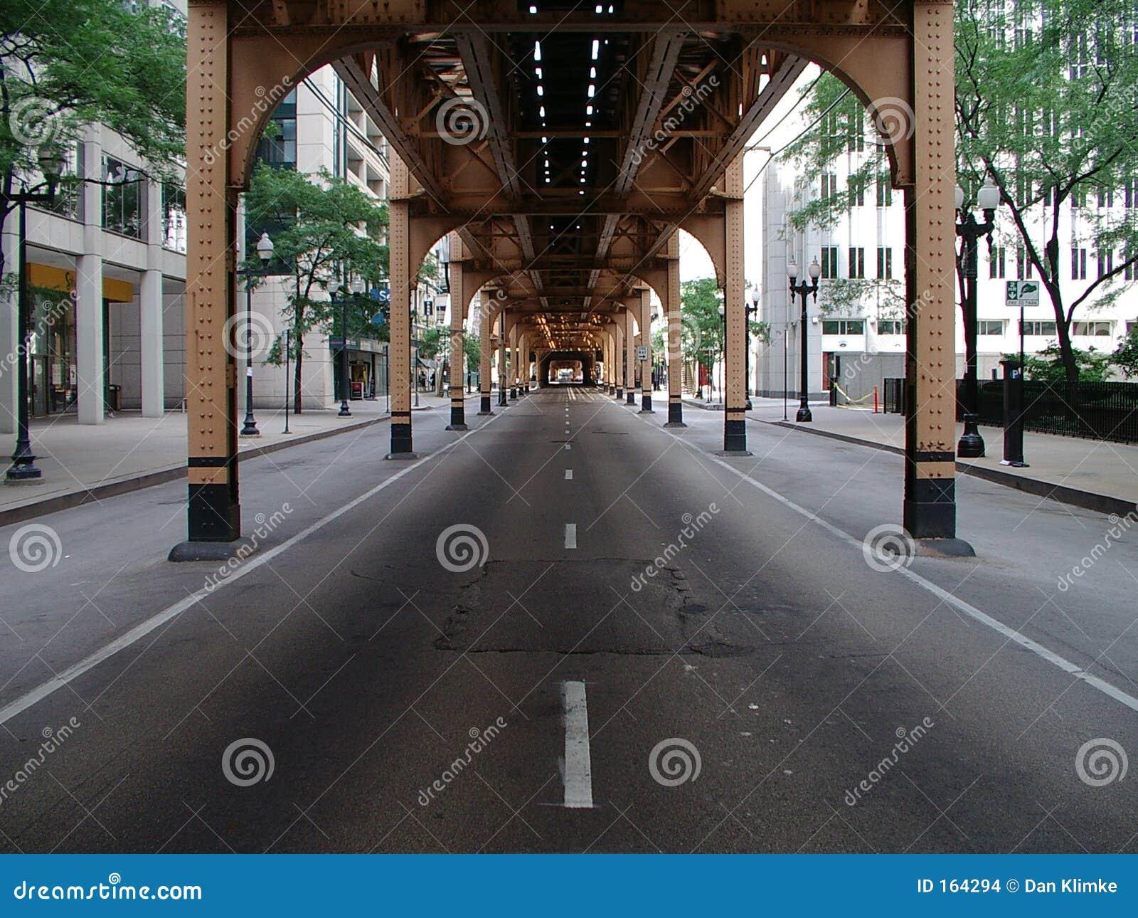 Via del distretto aziendale del Chicago