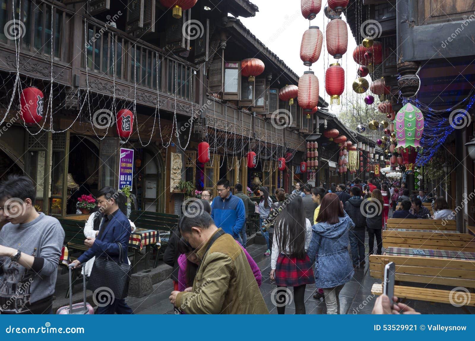 Via del pedone di Chengdu Jinli
