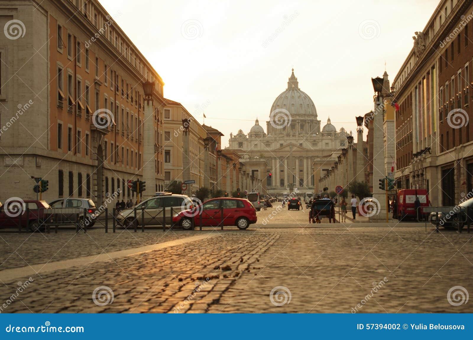 Via della Conciliazione en Heilige Peter Cathedral