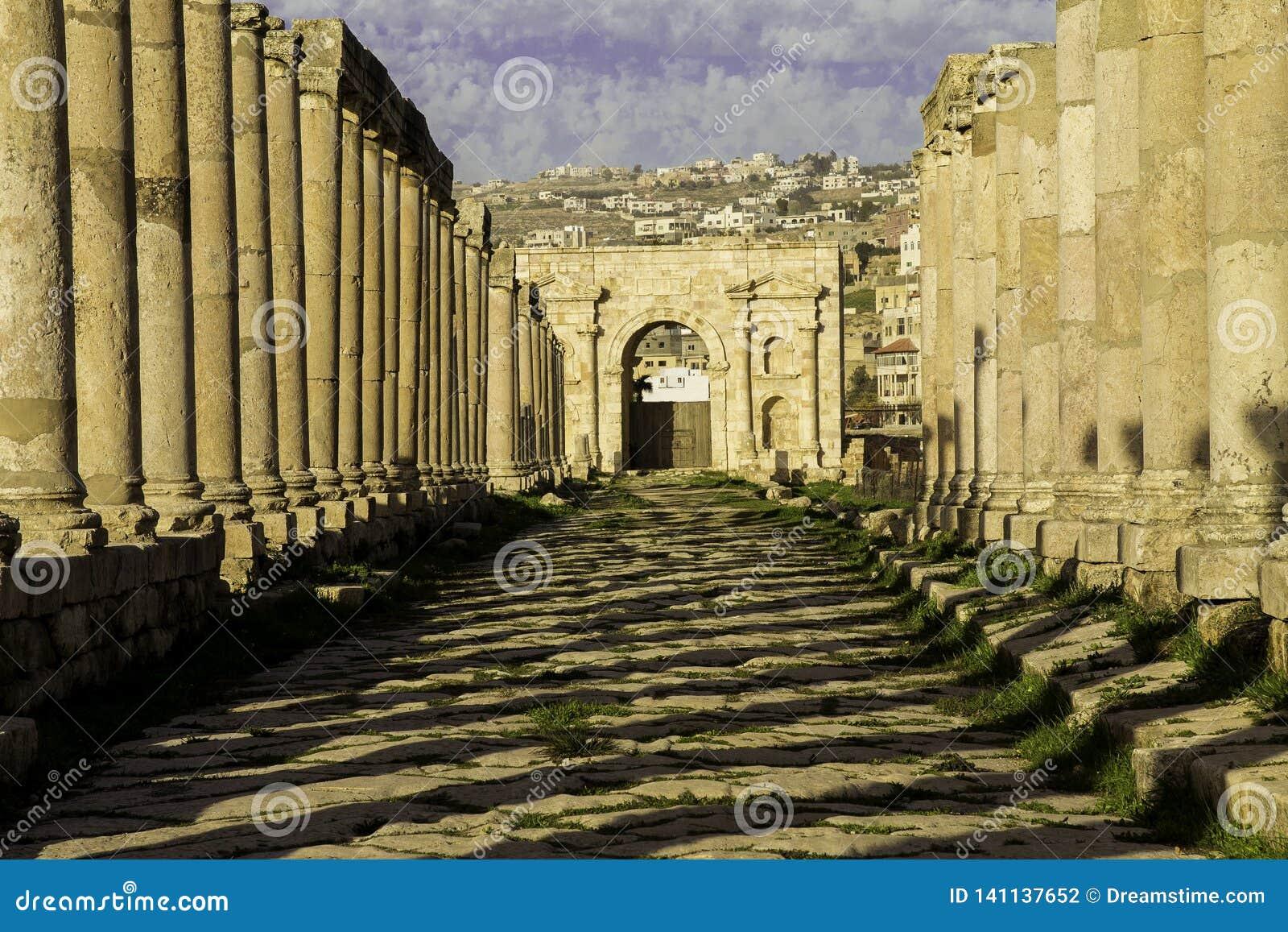 Via di Cardo Maximus in Jerash