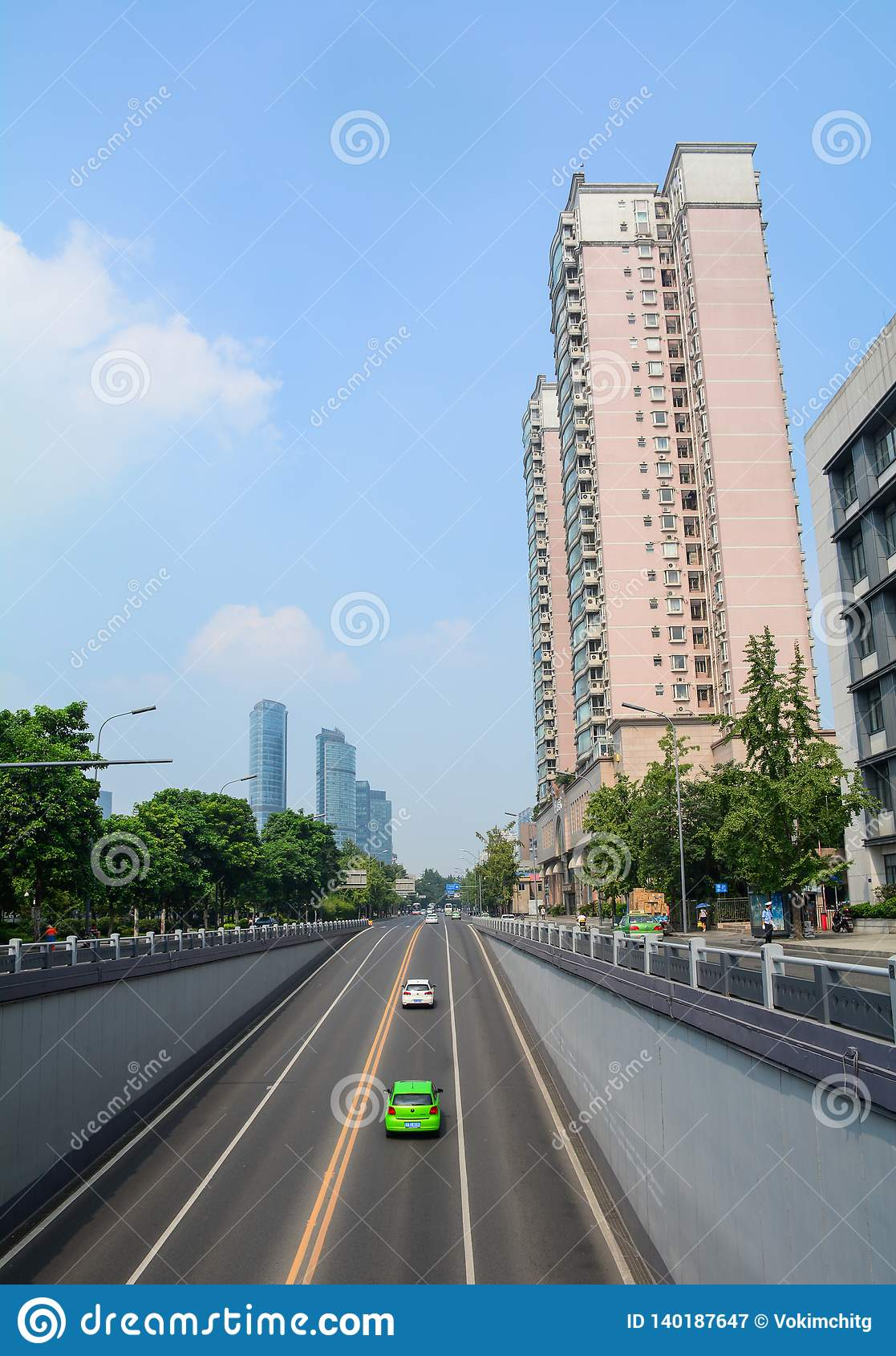 Via di Chengdu, Cina