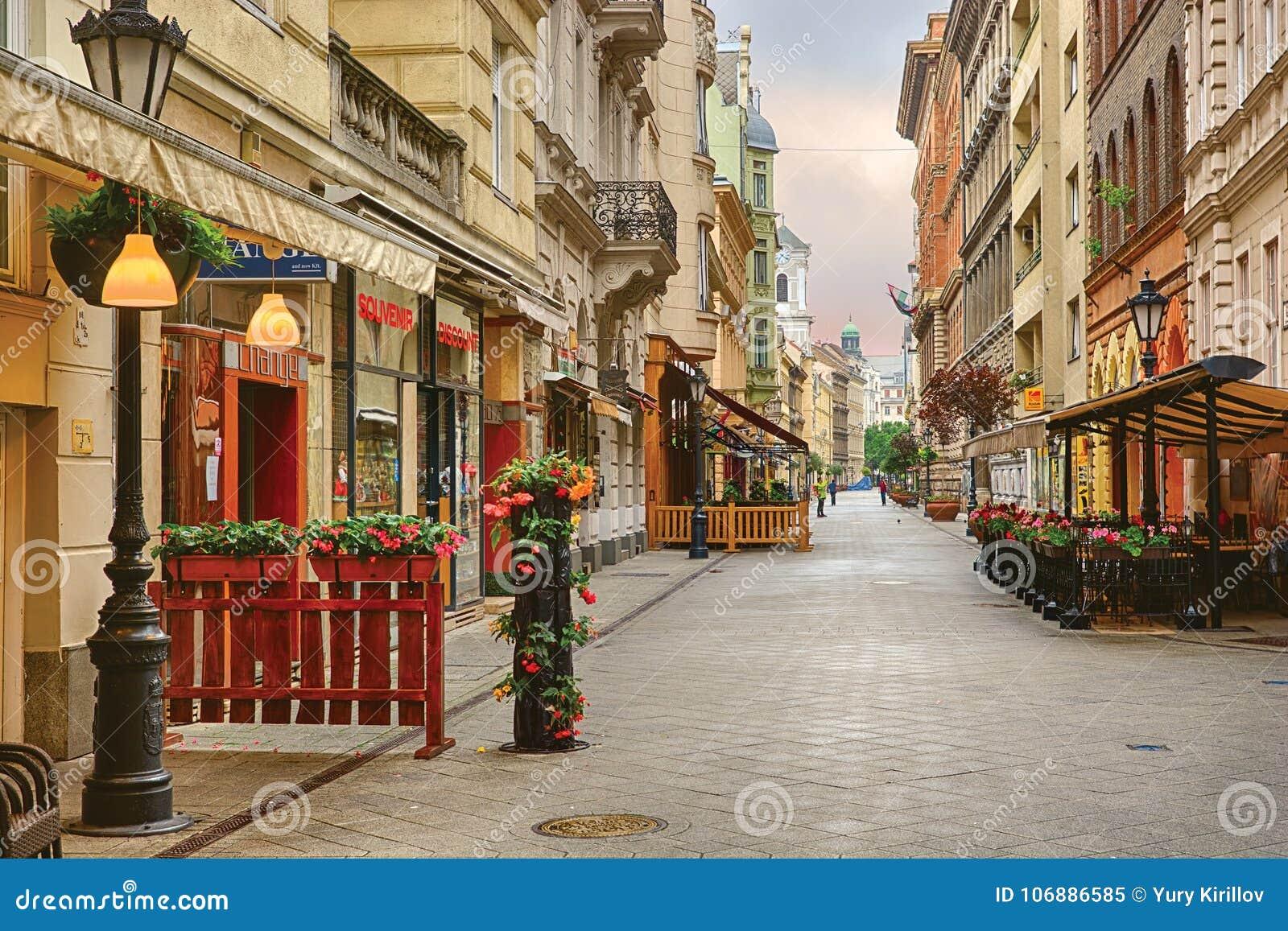 Via di Vaci a Budapest