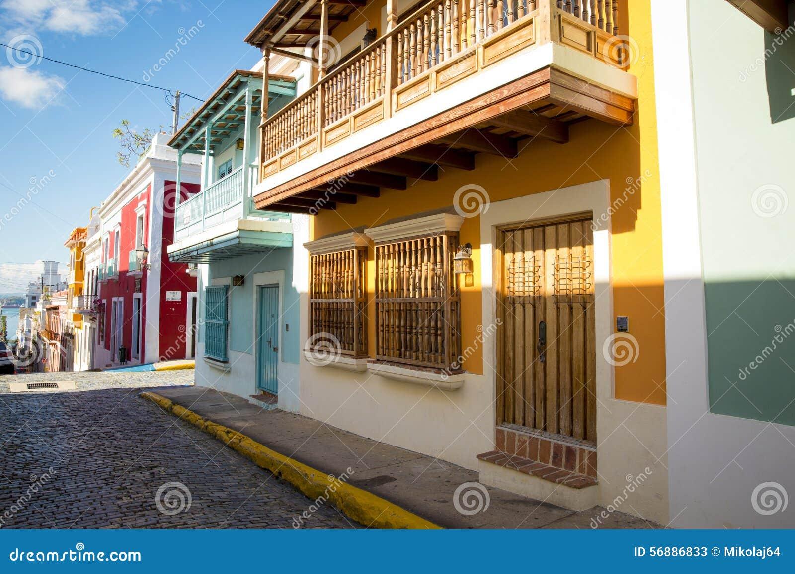Via di vecchio San Juan nel Porto Rico