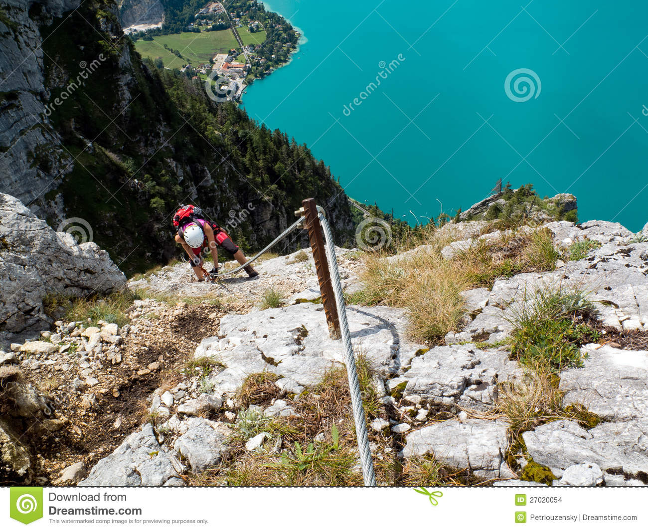 Klettersteig Clipart : Via ferrata klettersteig climbing stock photo image of sport