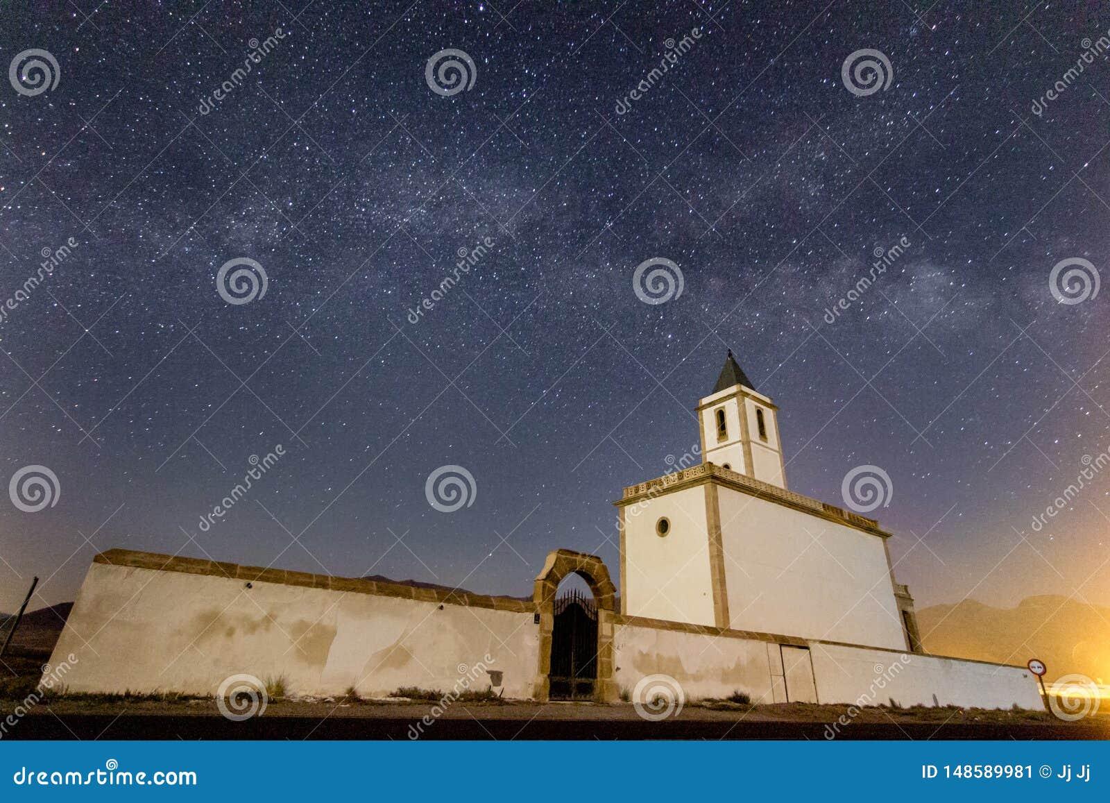 Via Lattea sopra Iglesia de las Salinas