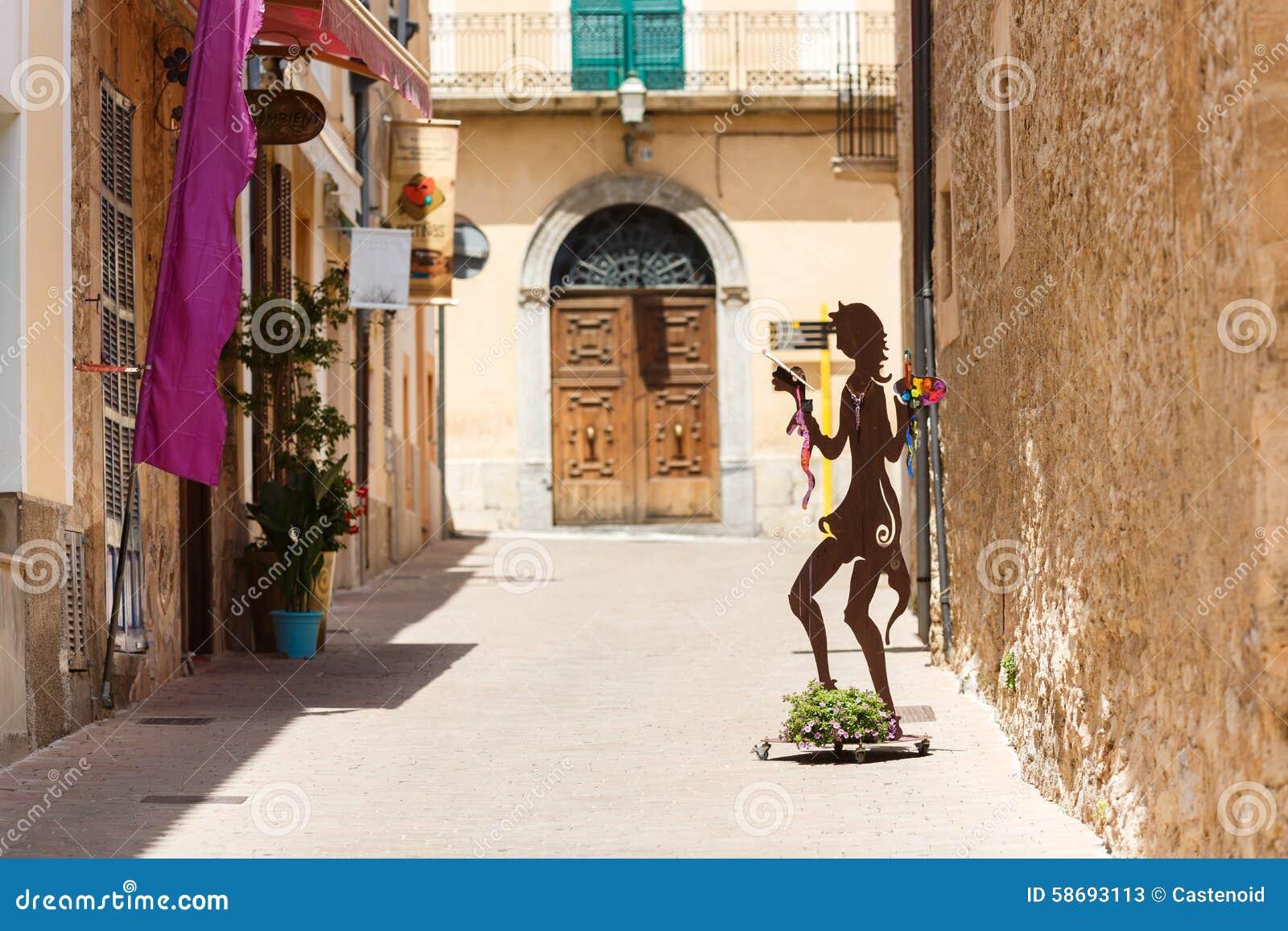 Via pedonale a Arta, Mallorca