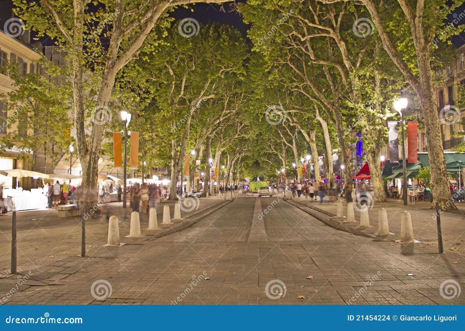 Via principale di Aix-en-Provence