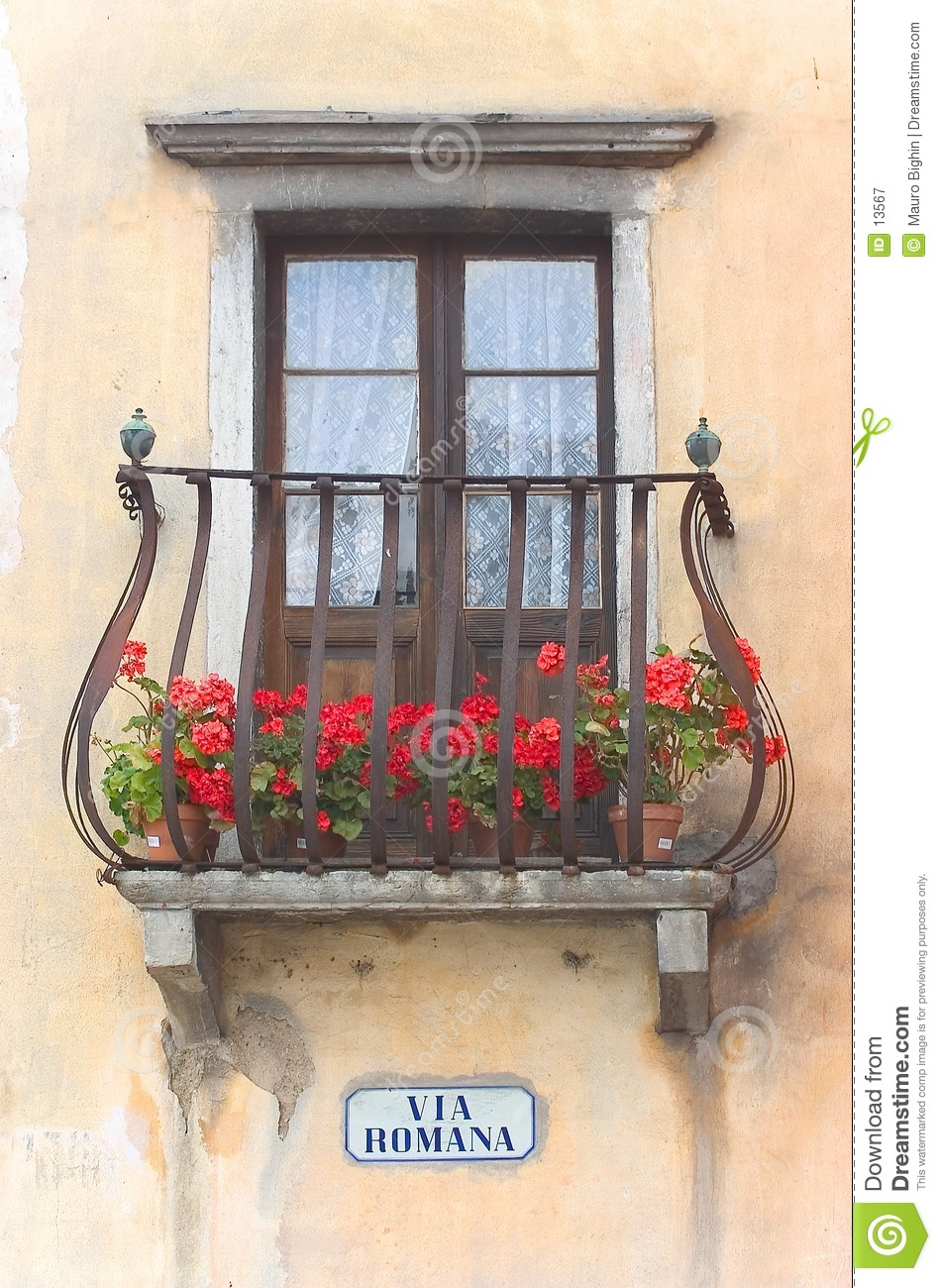 Via romana italian balcony stock image image 13567 for Balcony in italian