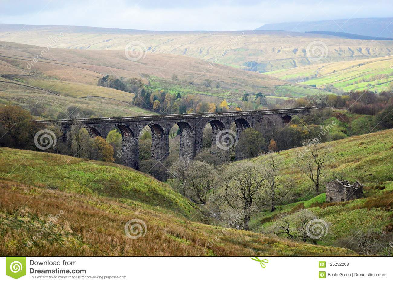 Viaduc principal de bosselure, dentdale Cumbria