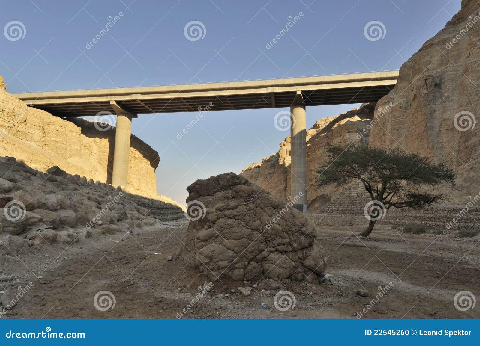 Viaduct in woestijn Judea.