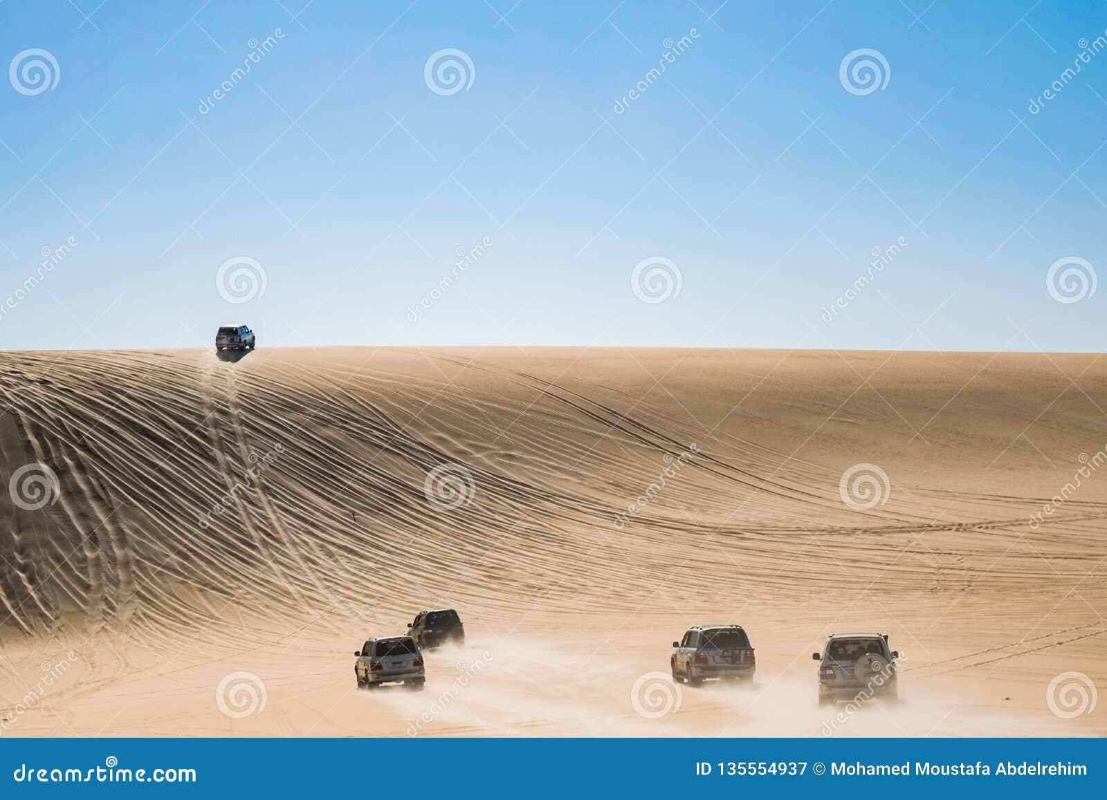 Viagem do safari no deserto de Siwa, Egito