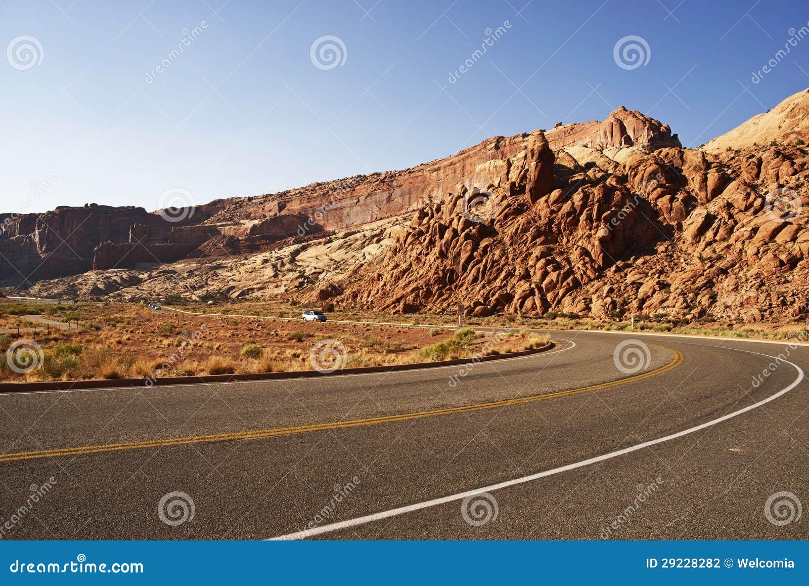 Download Viagem em Utá foto de stock. Imagem de pista, curva, horizontal - 29228282