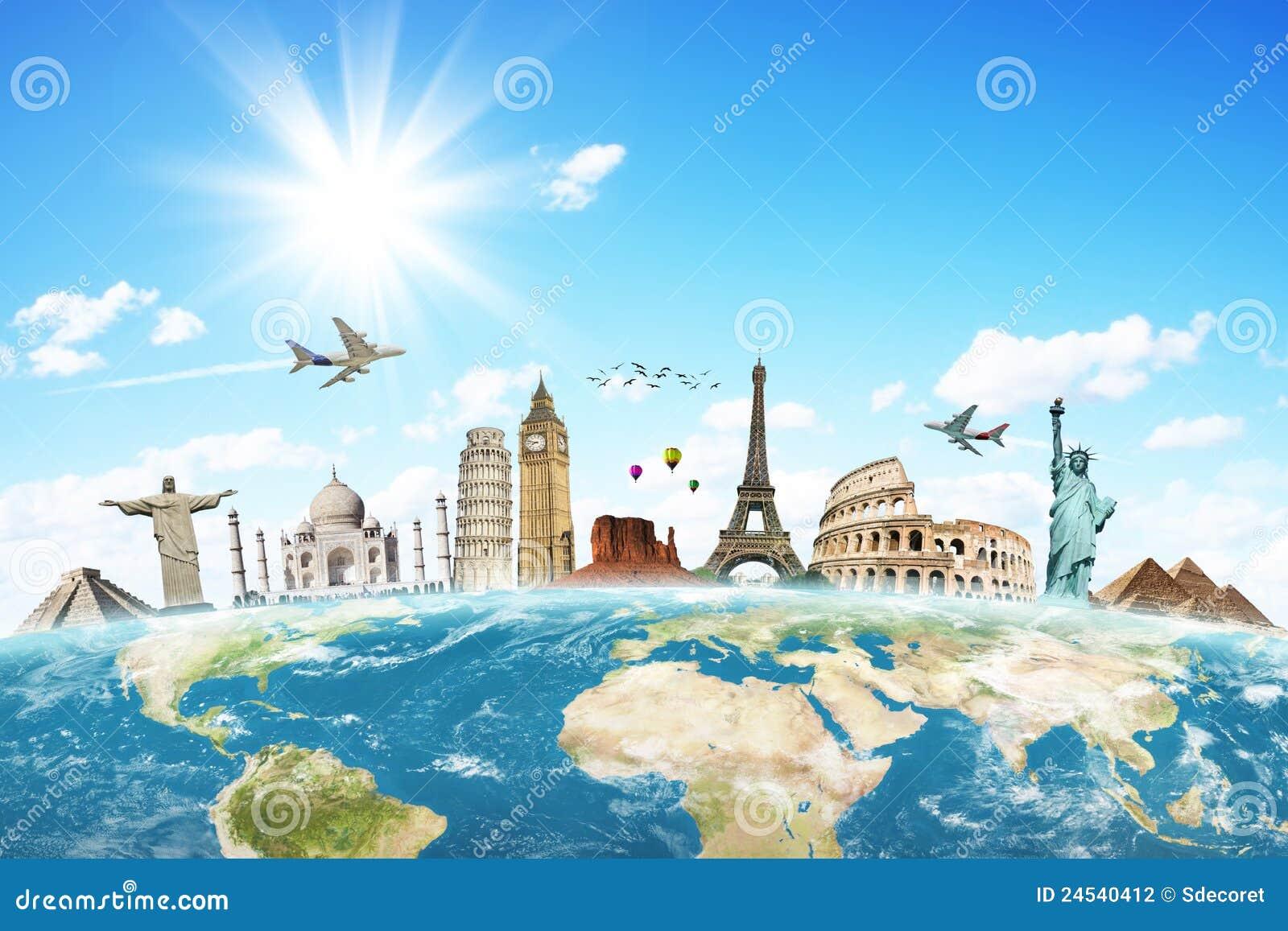 Viaggia il concetto delle nubi del mondo