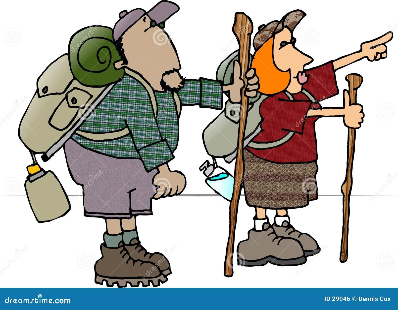 Viaggiatori con zaino e sacco a pelo