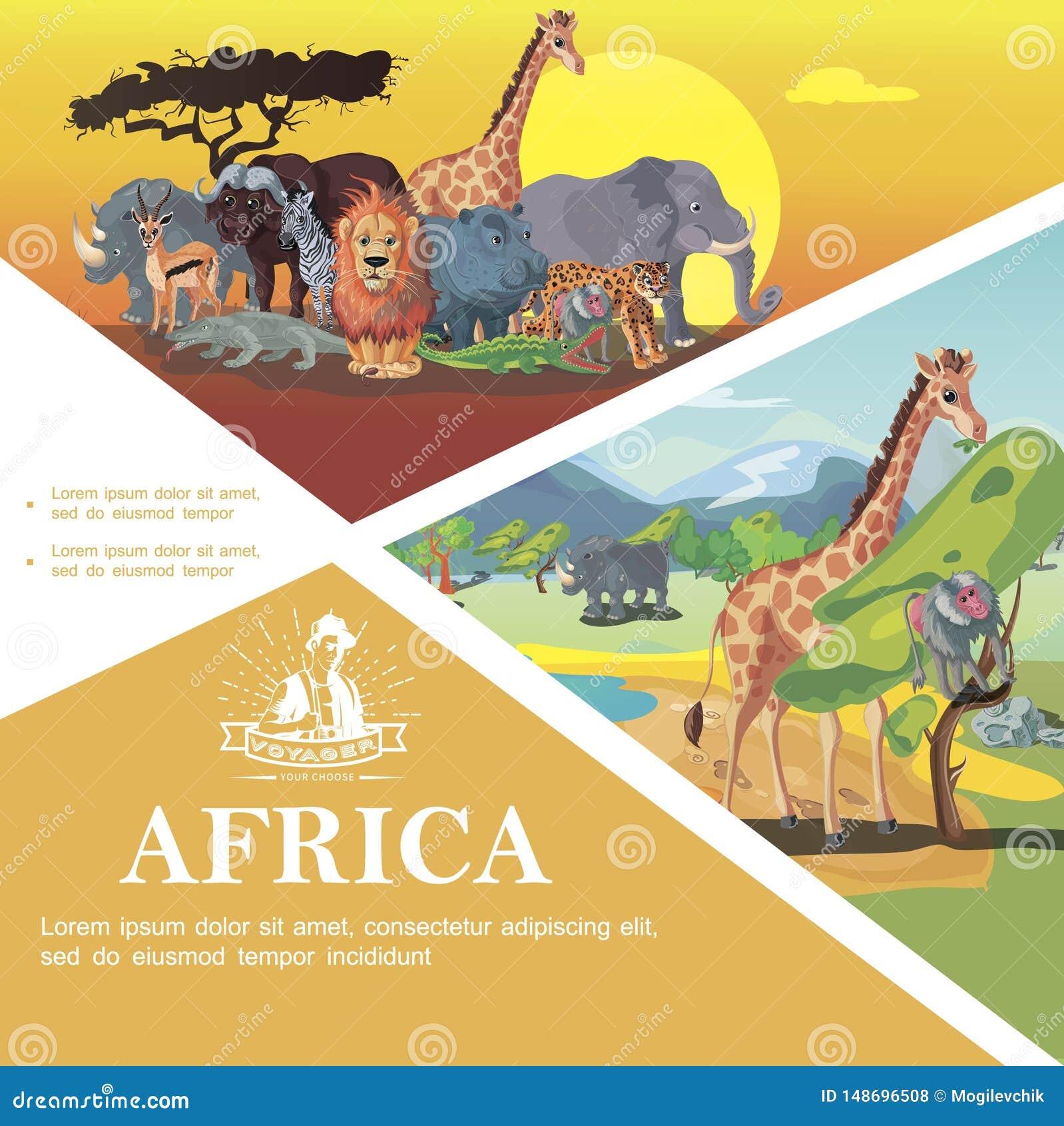 Viaggio del fumetto al modello variopinto dell Africa