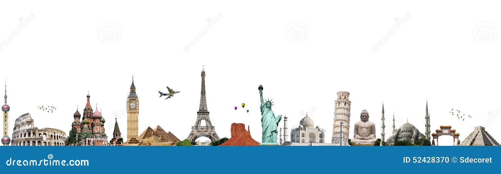 Viaja o conceito do monumento do mundo