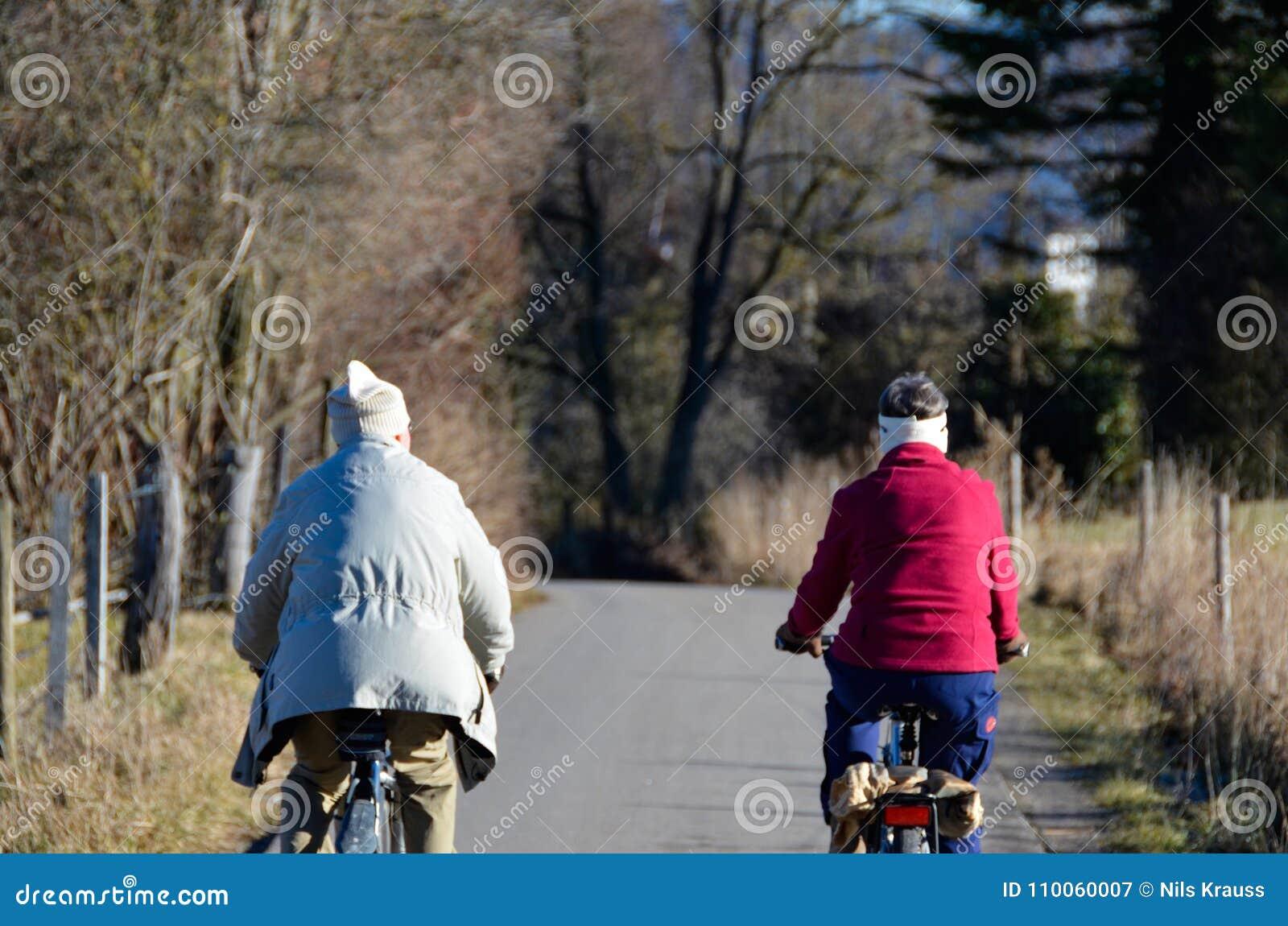 Viaje de la bicicleta de los pares en paisaje