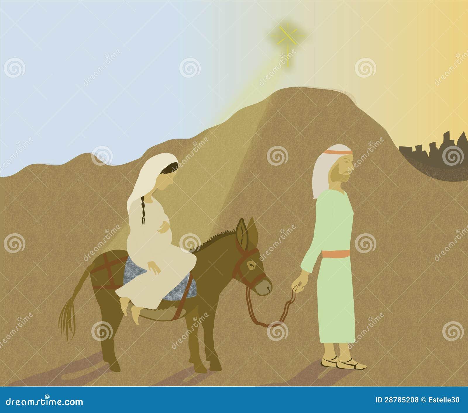 Viaje de Maria y de José a Belén