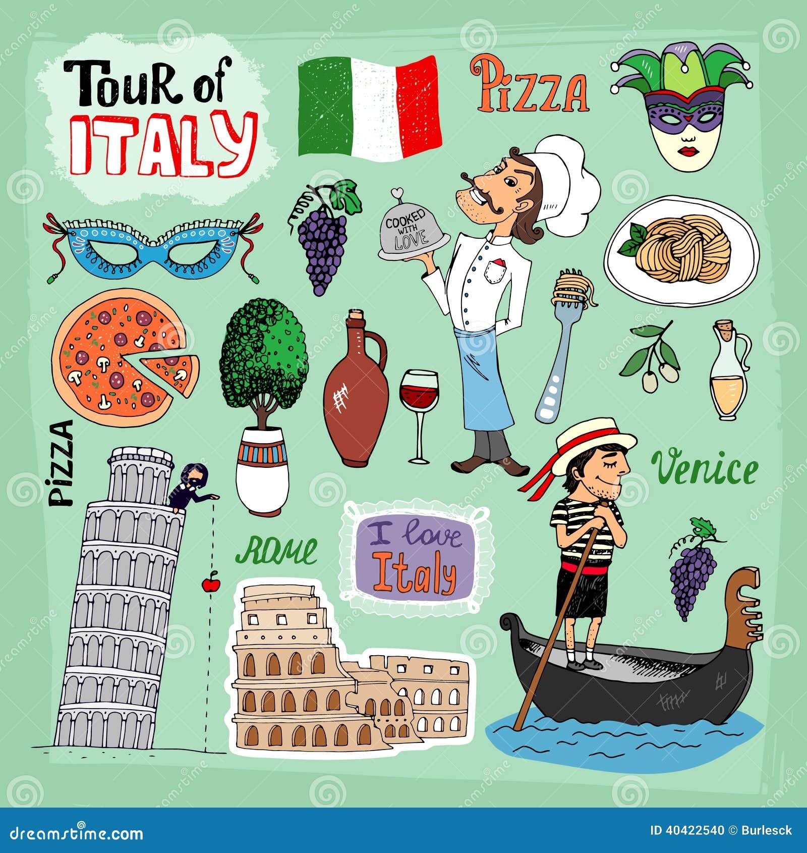 Viaje del ejemplo de Italia