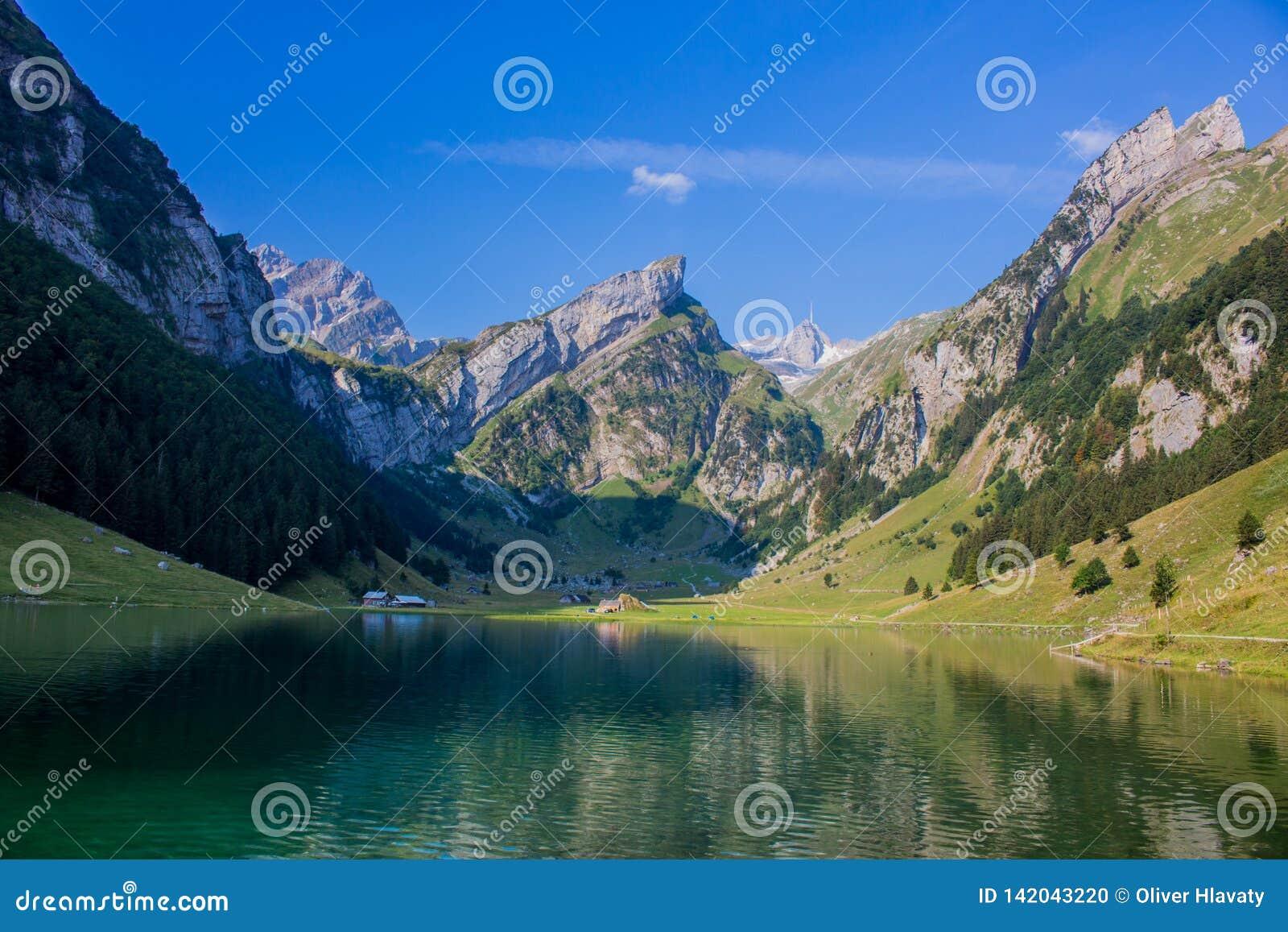 Viaje exploratorio con la región hermosa de la montaña de Appenzell