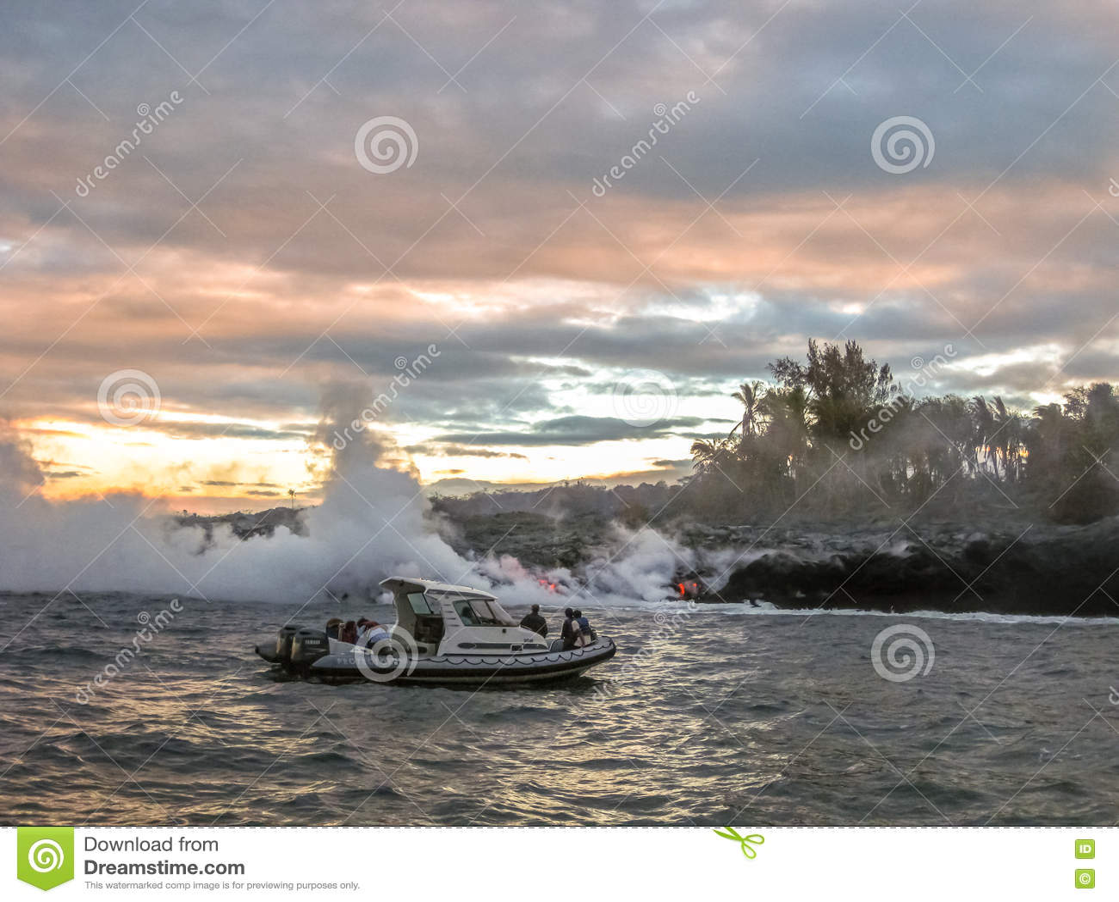 Viaje Kilauea del barco de la lava