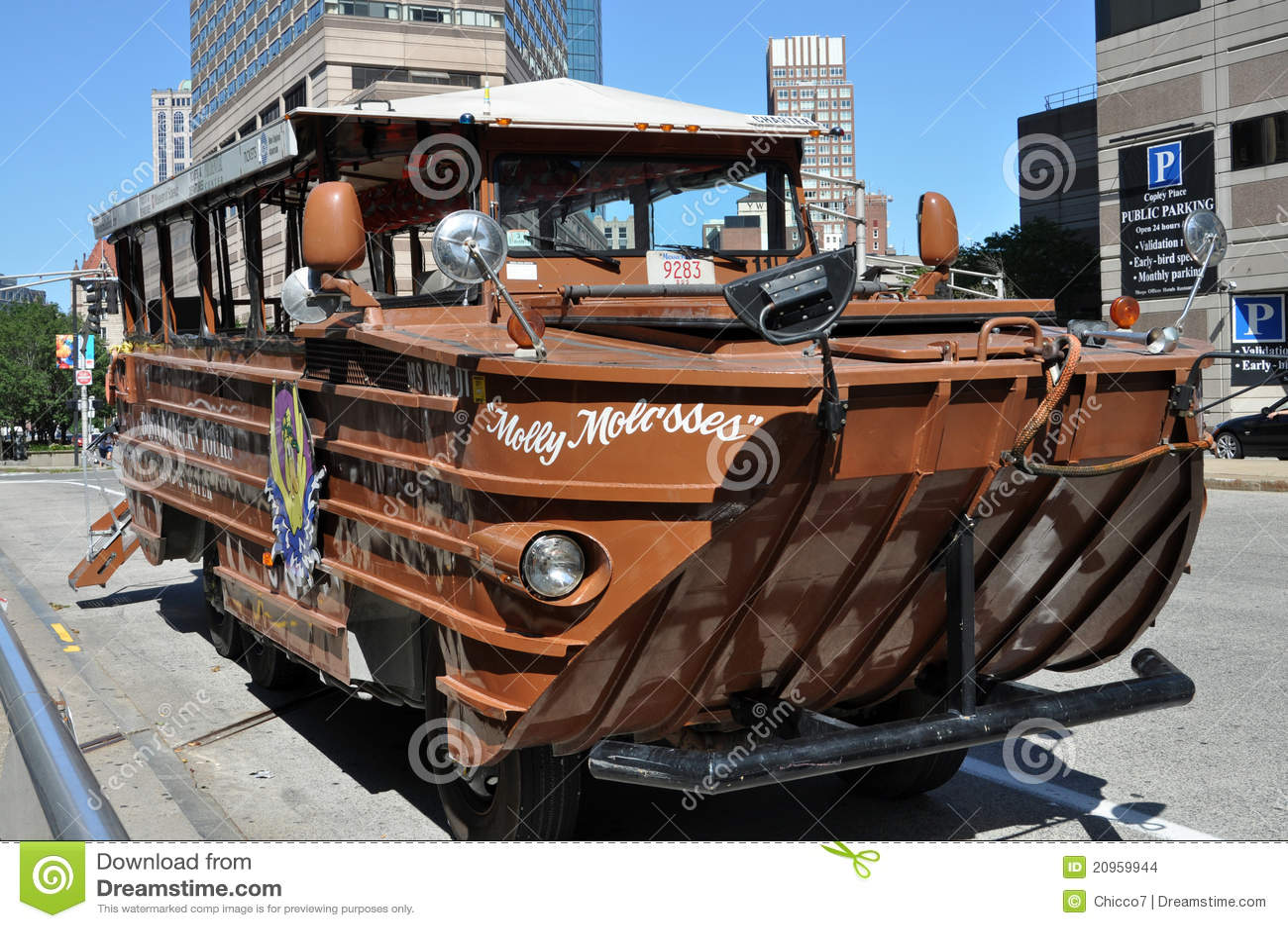 Viajes Del Barco Del Pato De Boston Imagen de archivo ...