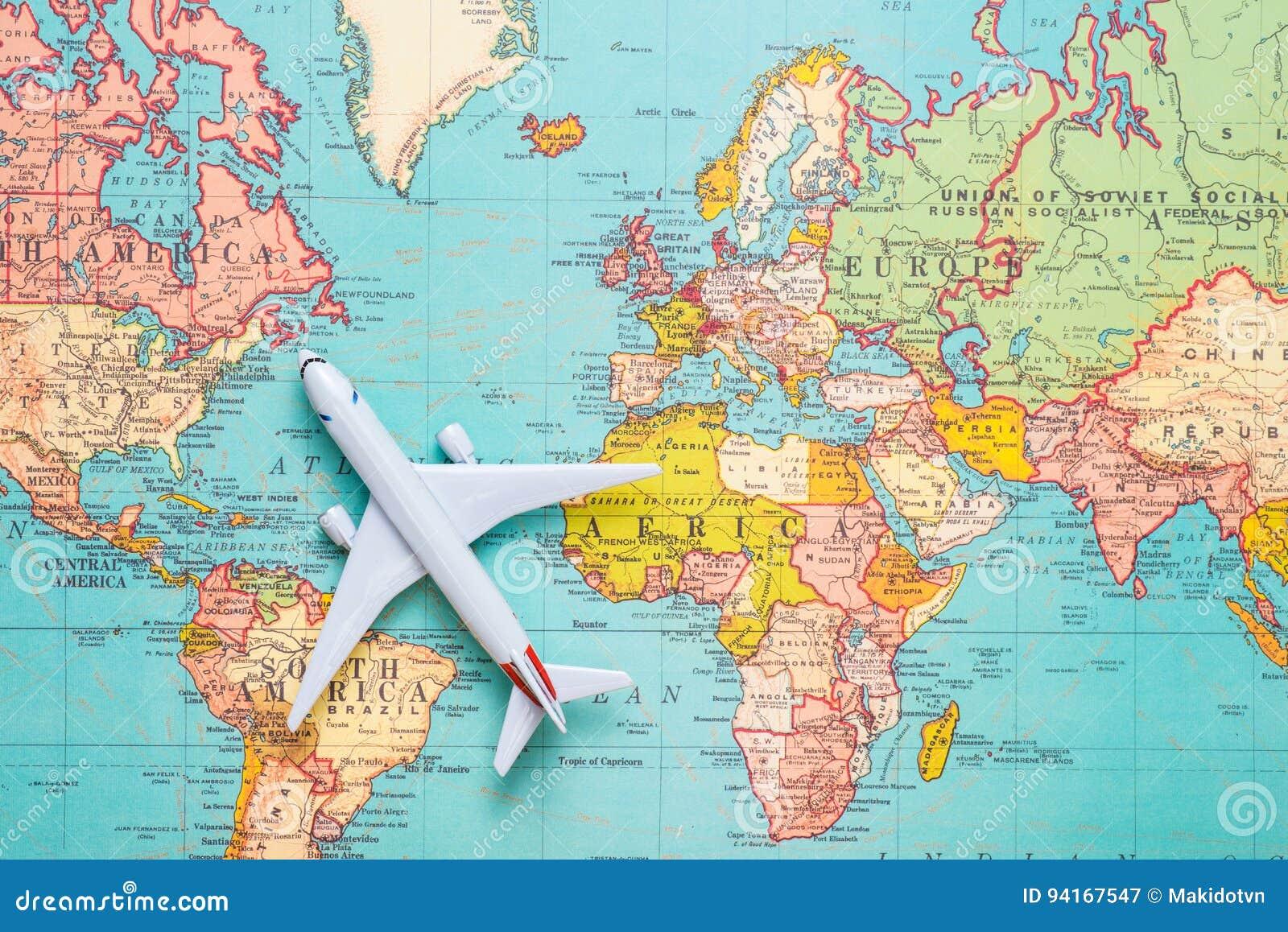 Viajes Viaje Vacaciones Aeroplano De La Vision Superior Con El