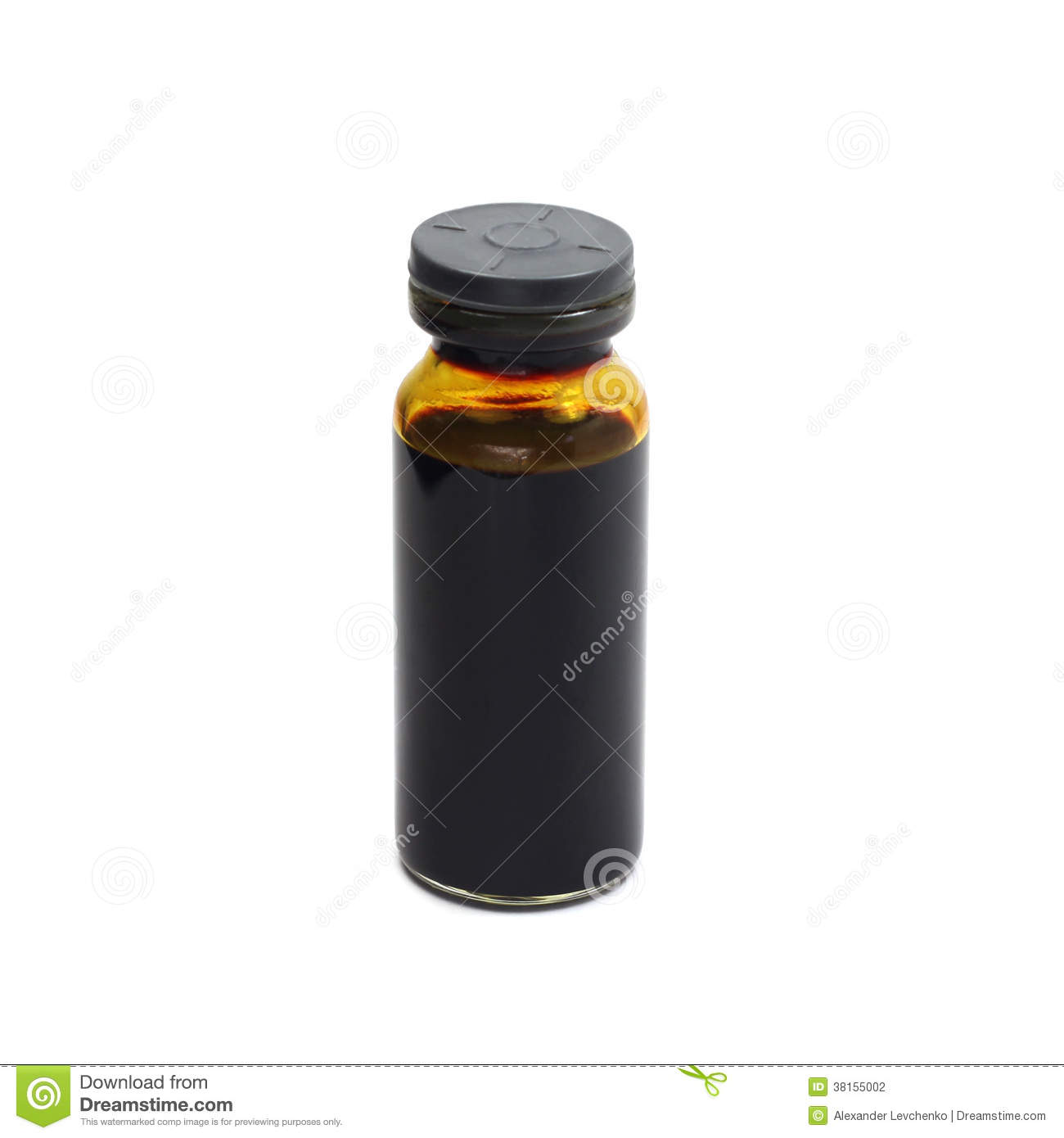 a vial with a solution of iodine