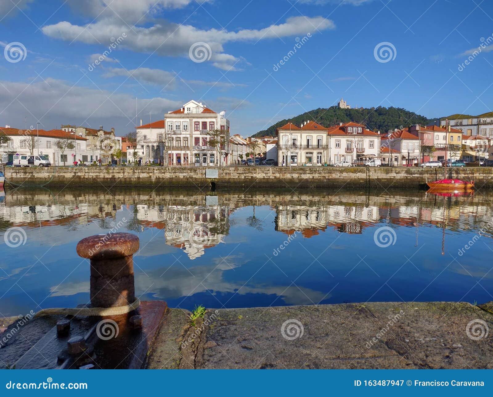 Viana do Castelo cityscape at early morning