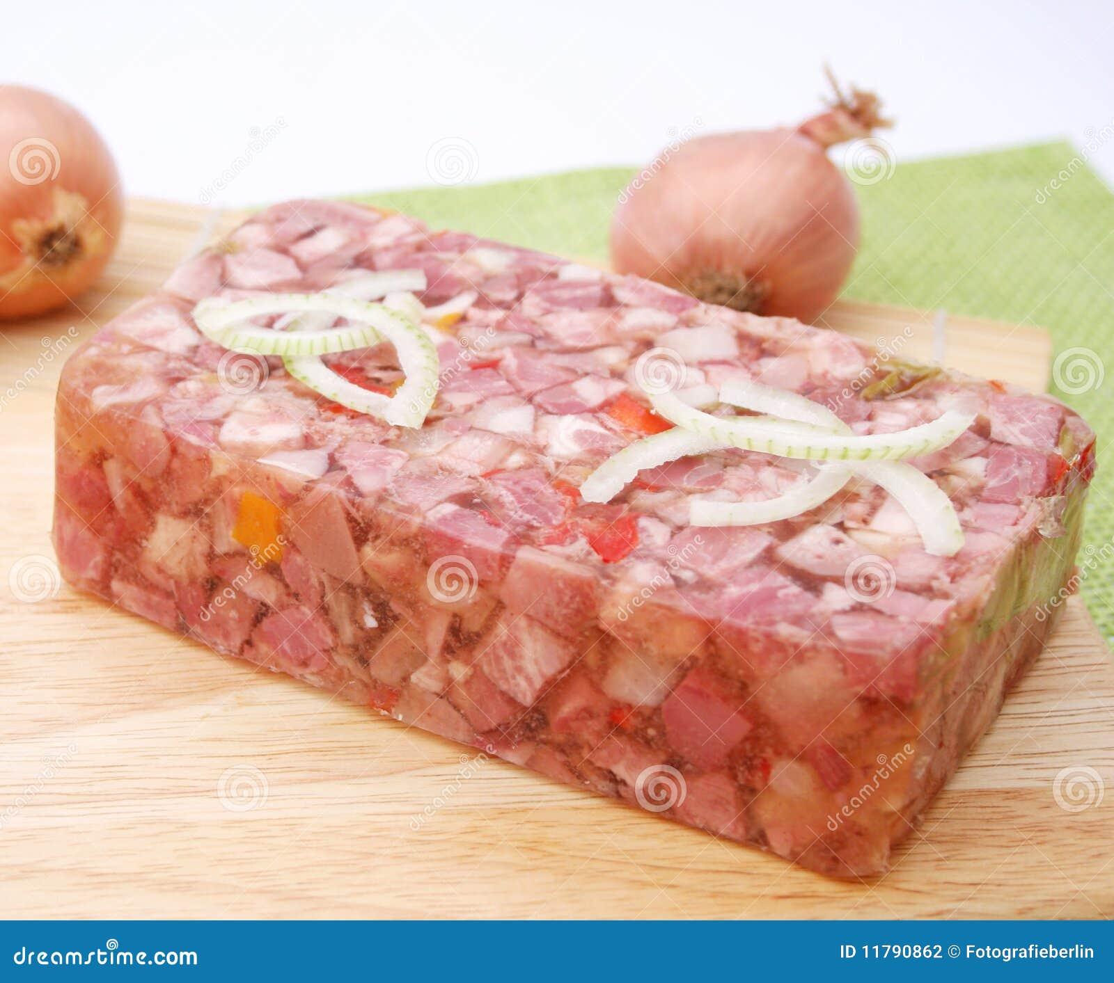 Viande avec la gelée