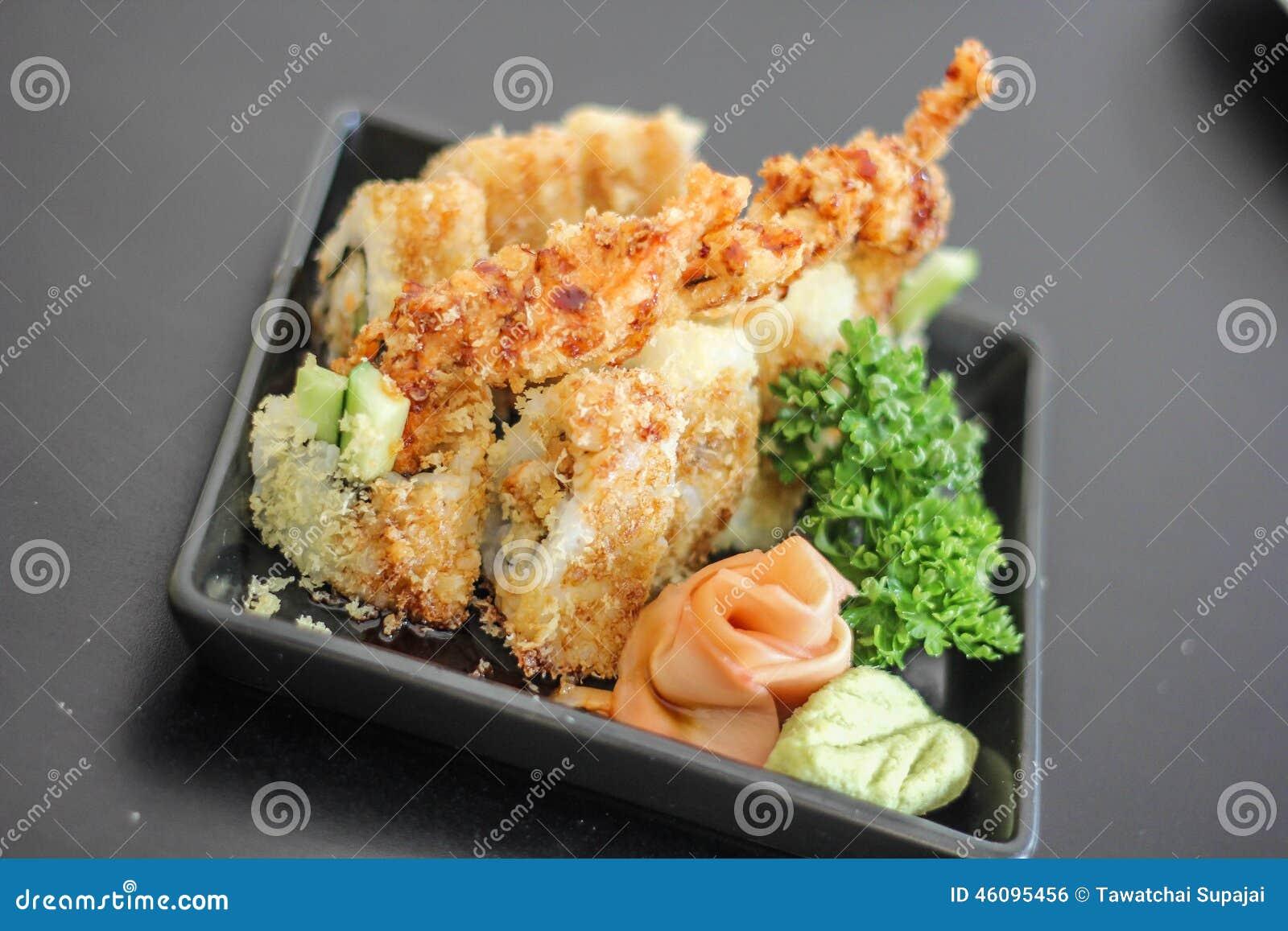viande d licieuse japonaise de plat de sushi d licieuse le. Black Bedroom Furniture Sets. Home Design Ideas