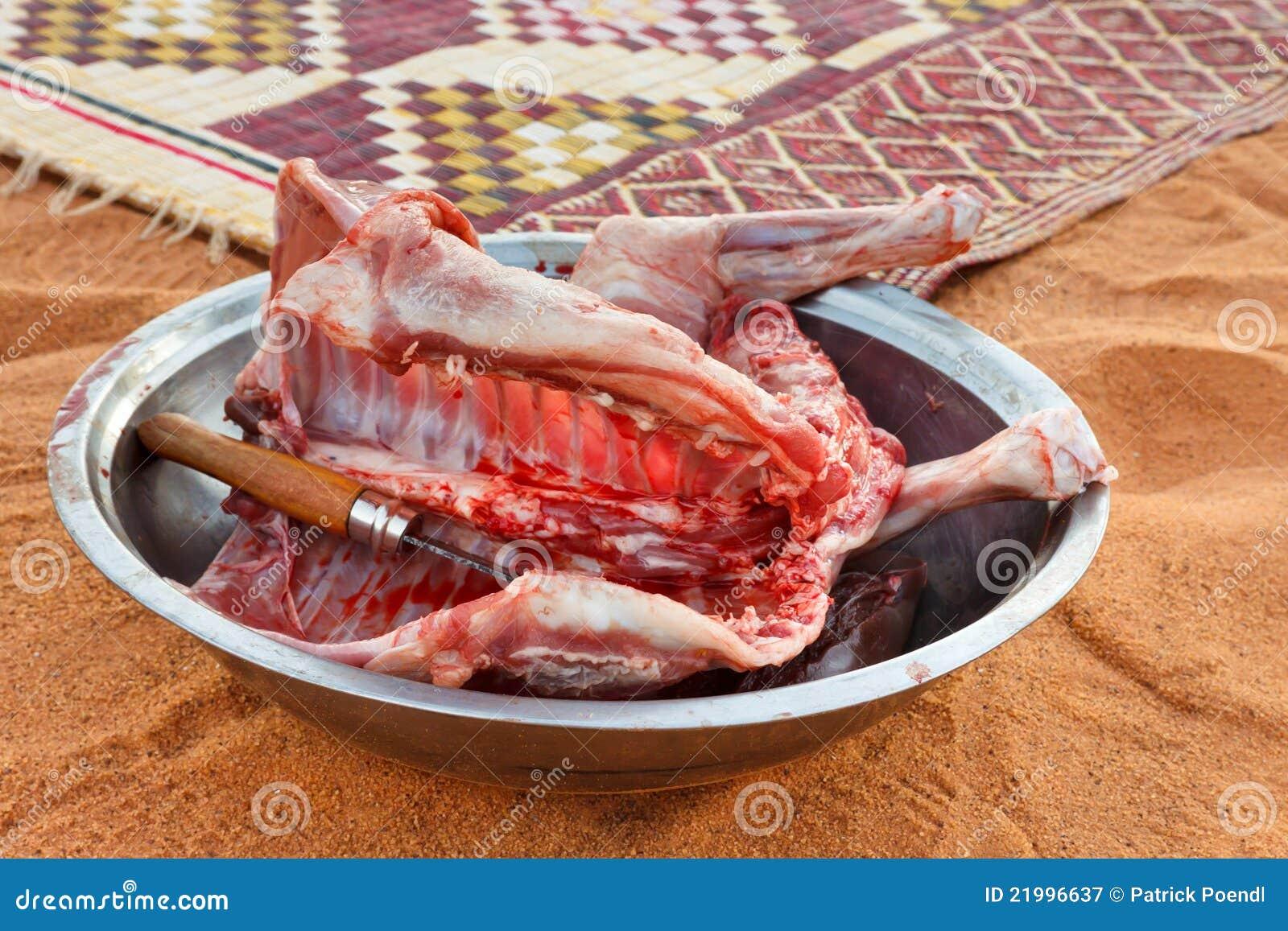 Viande de chèvre frais abattue