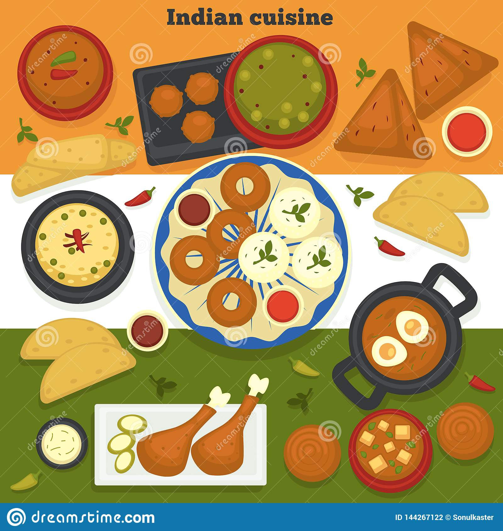 Viande De Cuisine Et Nourriture Indiennes De L Inde De Produits De