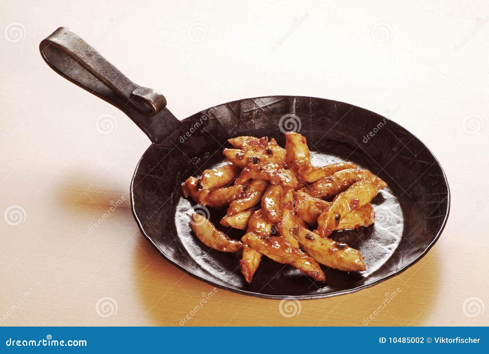 Viande marinée de poulet