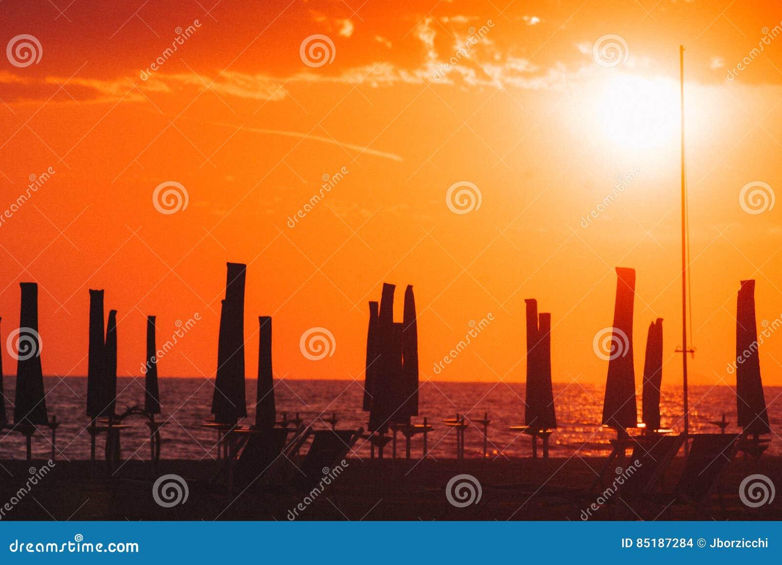 Viareggio plaża, Włochy, Tuscany