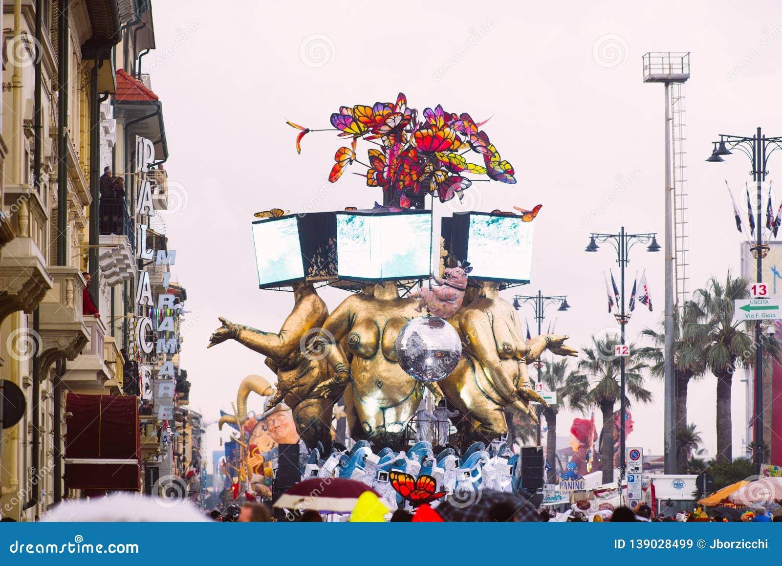 Viareggio`s Carnival,2019 Edition Editorial Stock Image - Image of