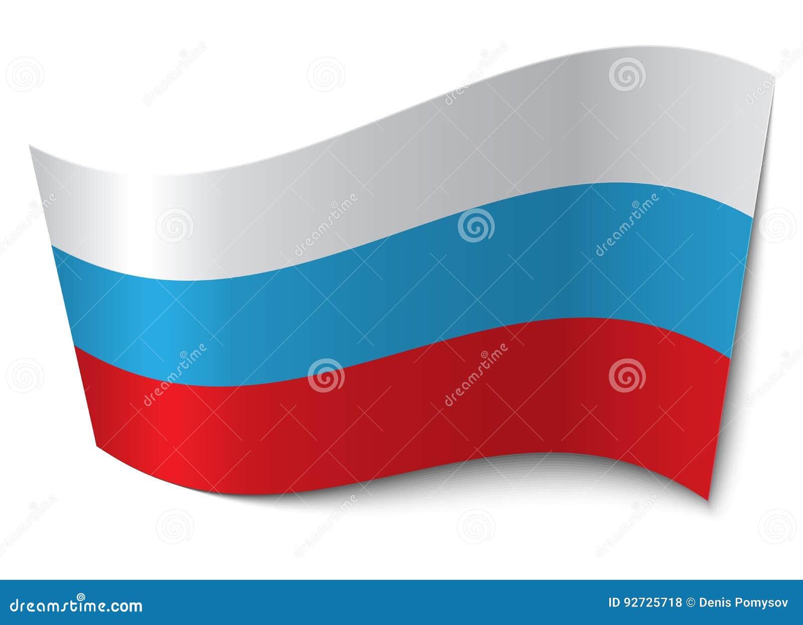 Vibração na bandeira do vento de Rússia