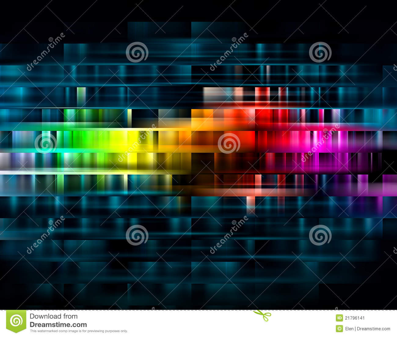 Vibrant Abstract Background Stock Illustration