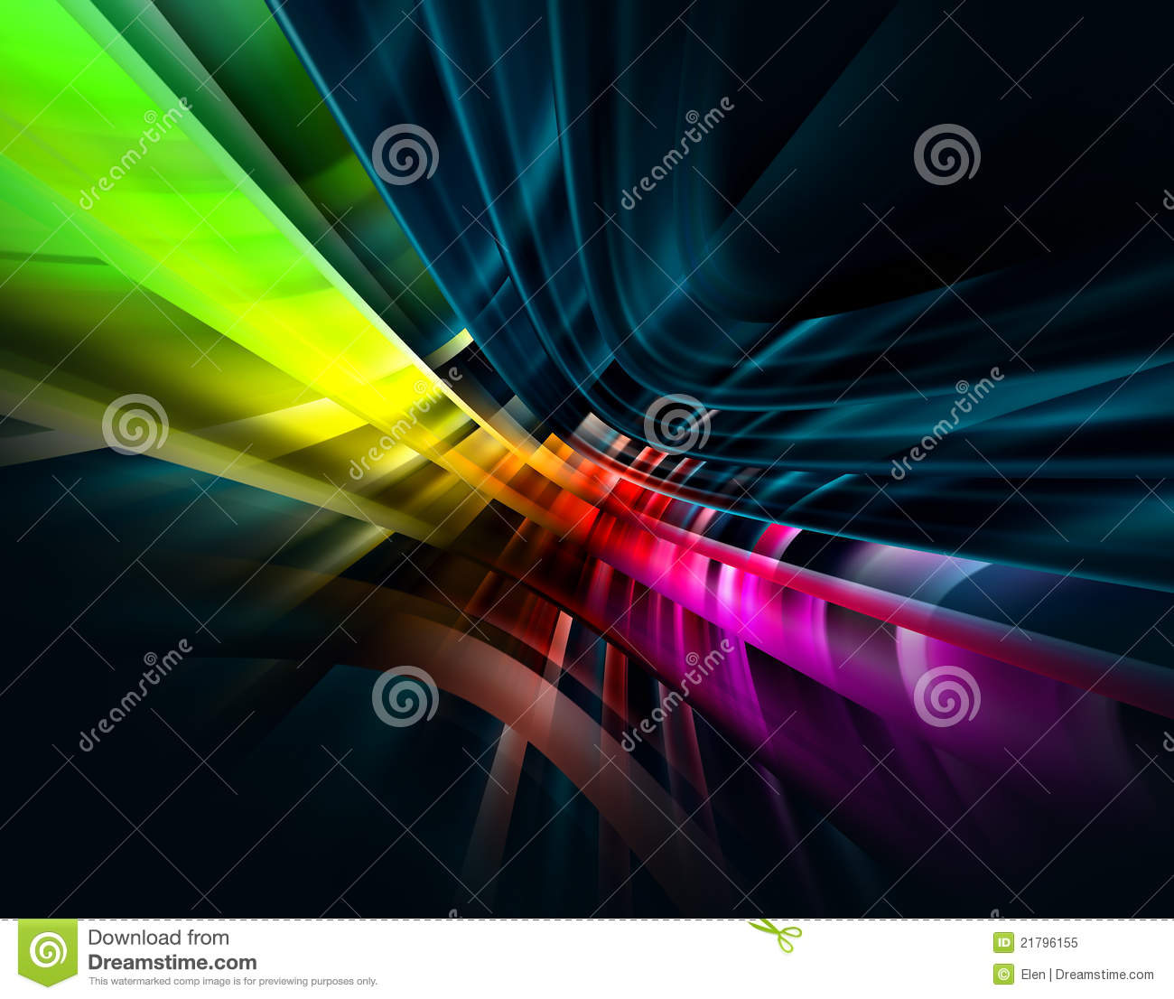 Vibrant Abstract On Black Background Royalty Free Stock