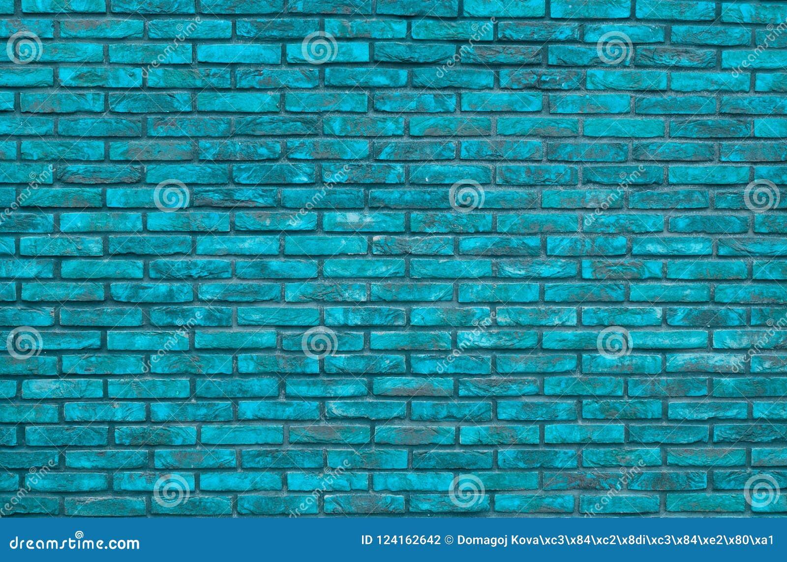 Vibrant Blue Brick Wall Background Wallpaper Bricks Pattern TextureVibrant