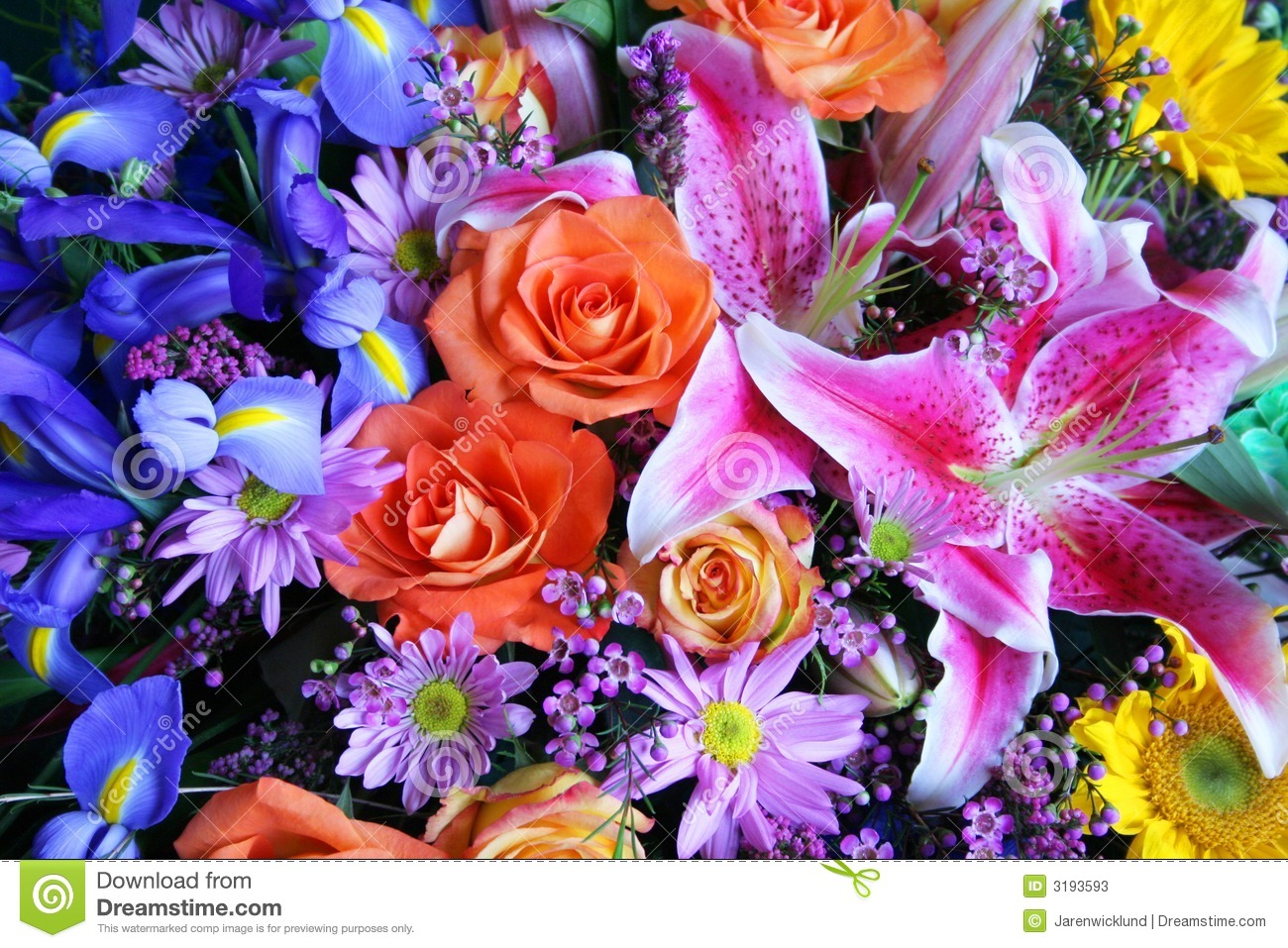 Huge bouquet of flowers stock photo. Image of green, chrysanthemum ...