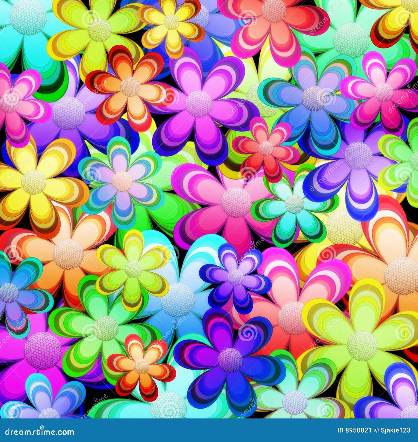 Vibrant color spring stock illustration. Image of flower ...