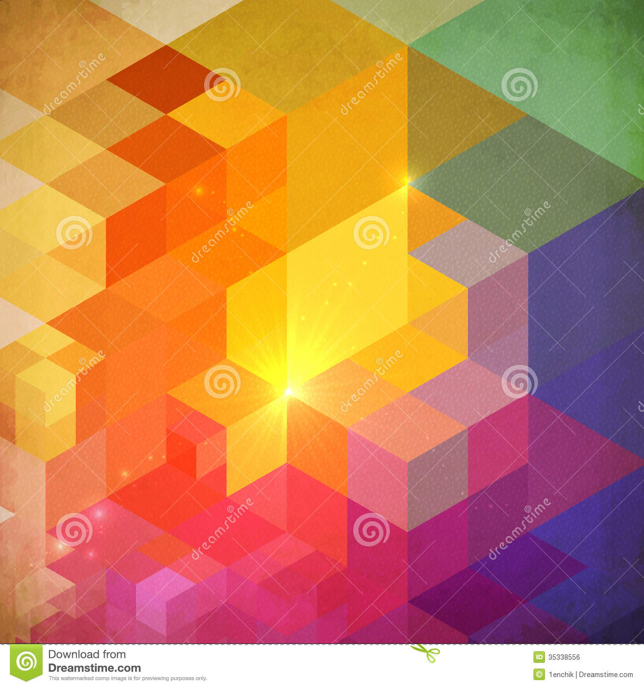 Vibrant Colorful Abstract Geometry Background Stock Vector