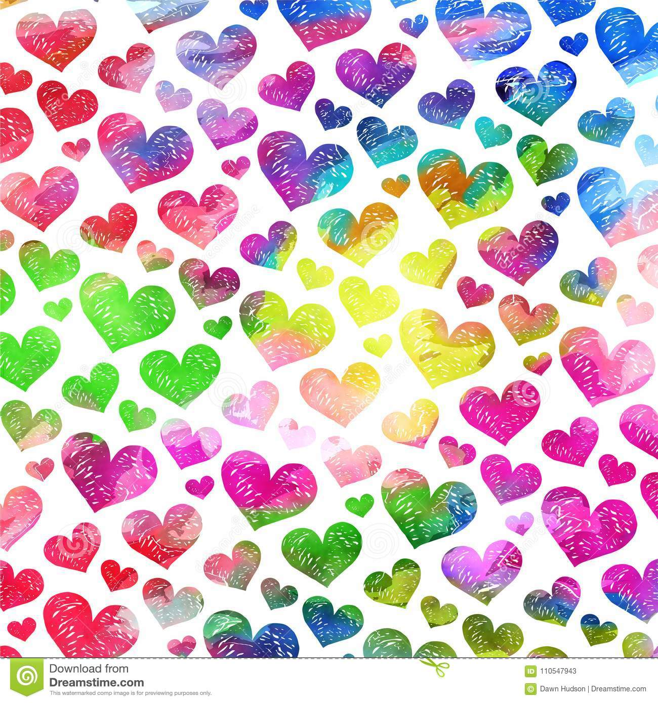 Artistic Watercolor Love Heart Background