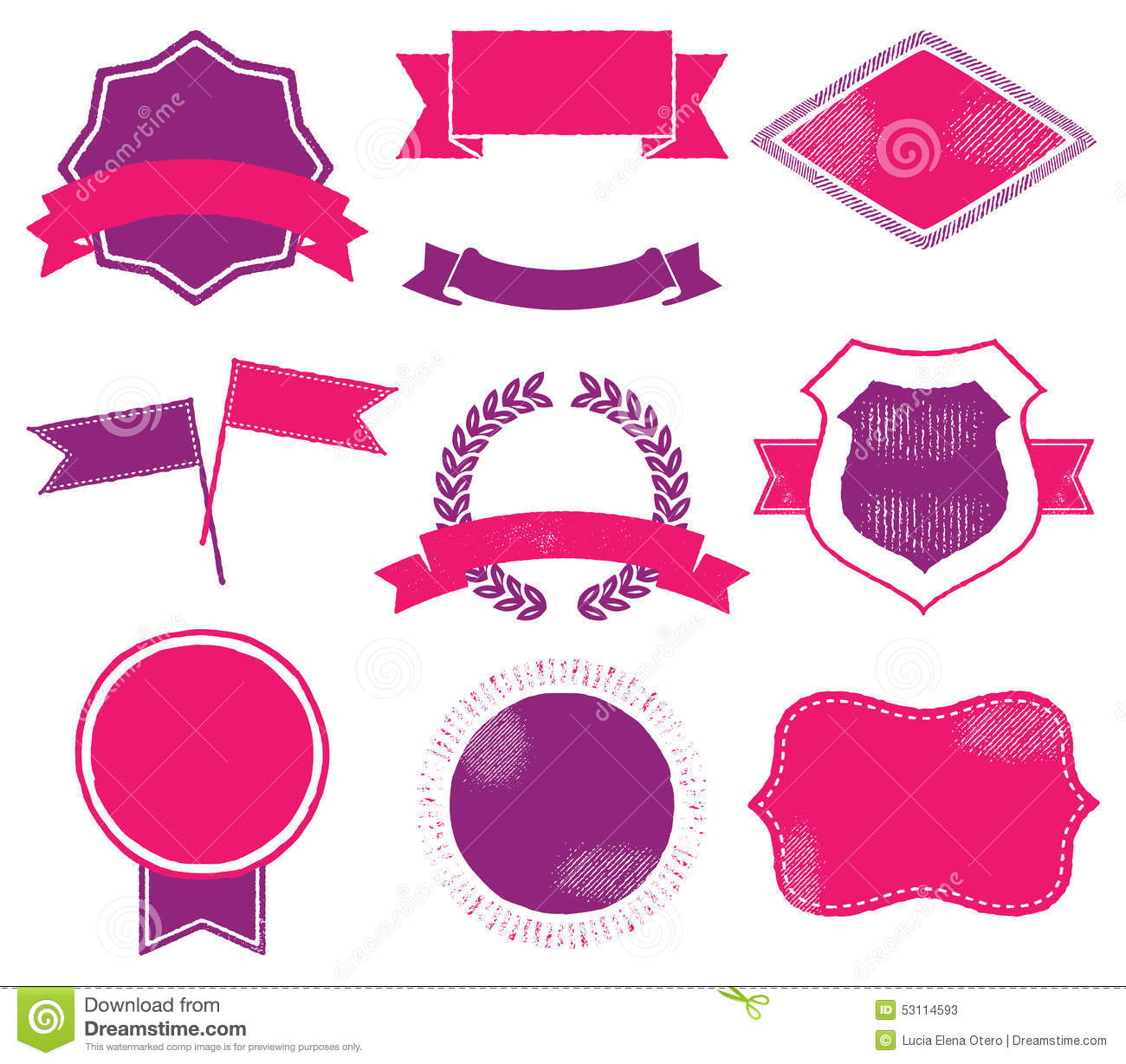 vibrant logo templates stock vector illustration of collection