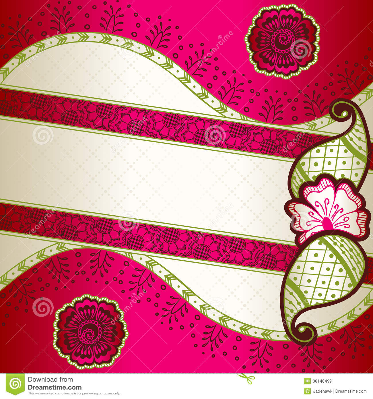 henna inspired banners borders - photo #49